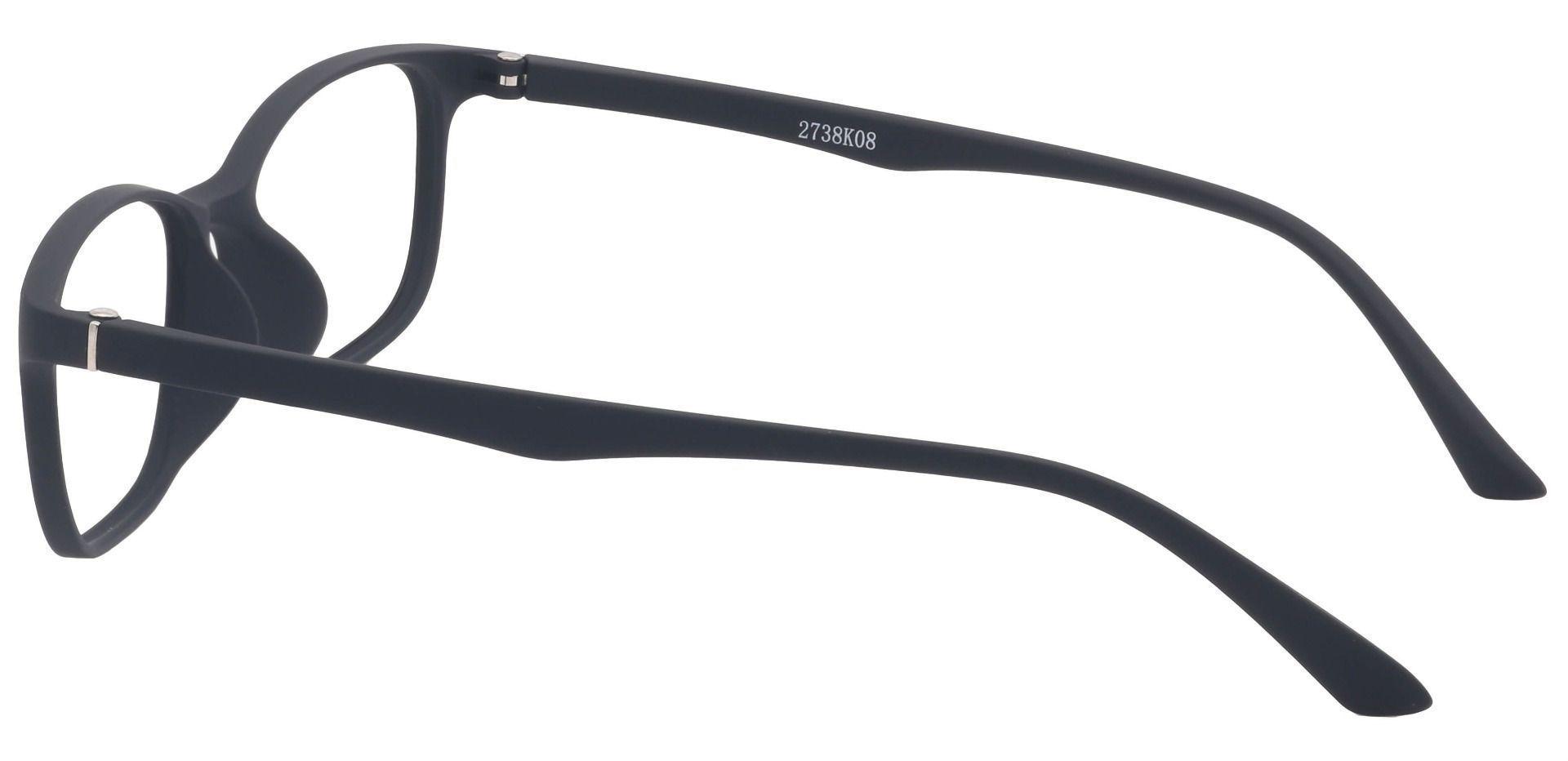Alex Rectangle Prescription Glasses - Matte Black