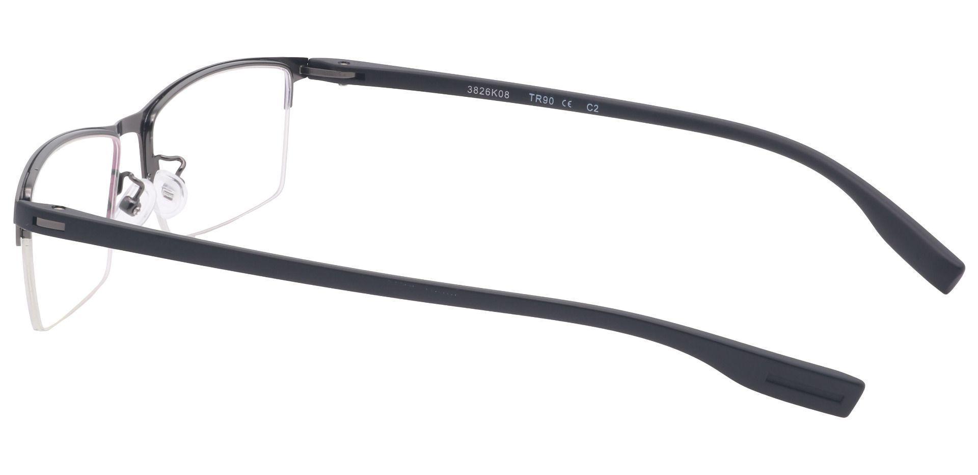 Ash Rectangle Prescription Glasses - Black