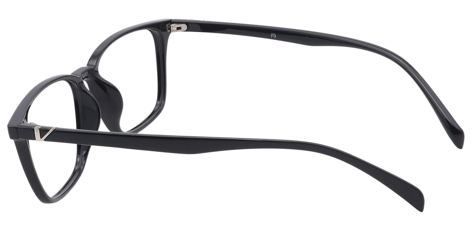 Aubrey Oval Prescription Glasses - Black