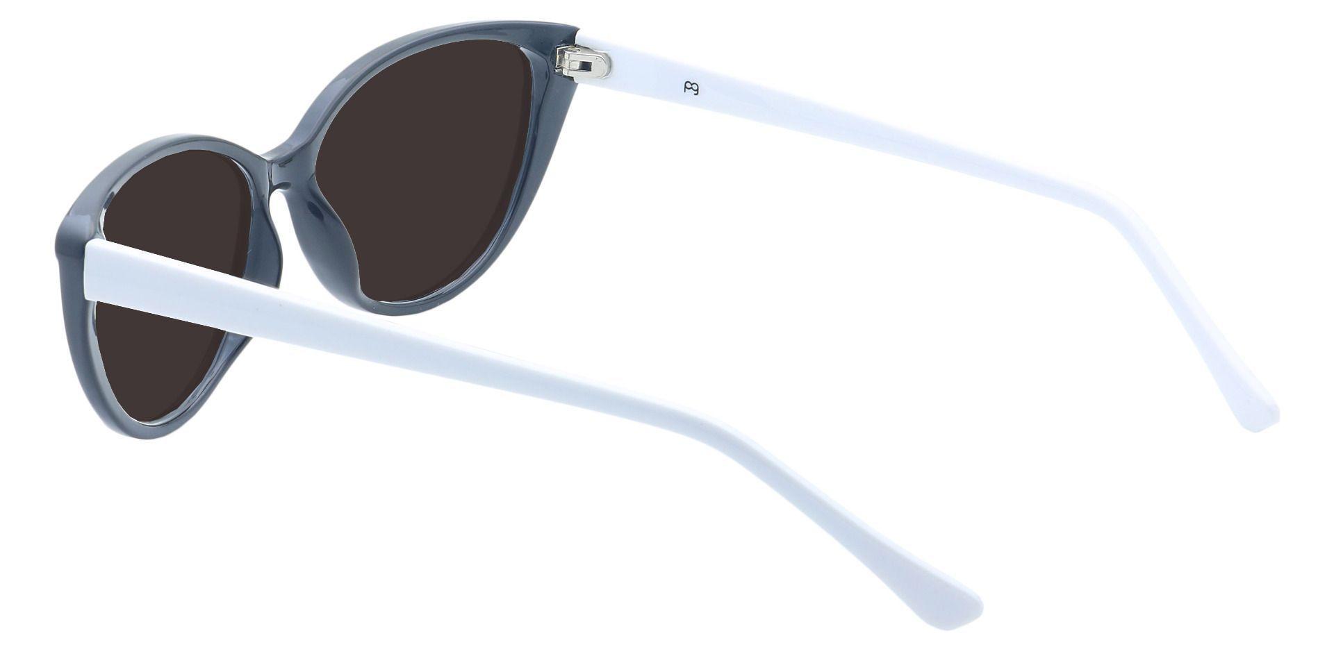 Amore Cat-Eye Prescription Sunglasses - Black Frame With Gray Lenses