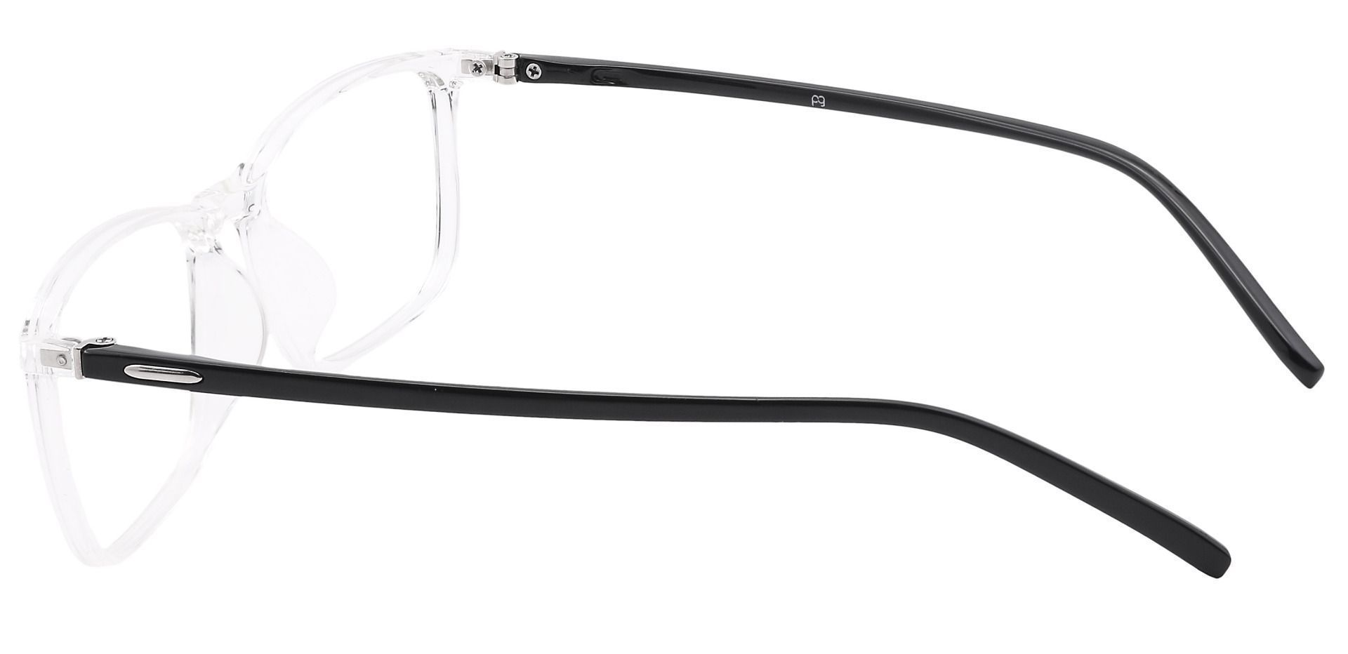 Fuji Rectangle Prescription Glasses -  Crystal/black