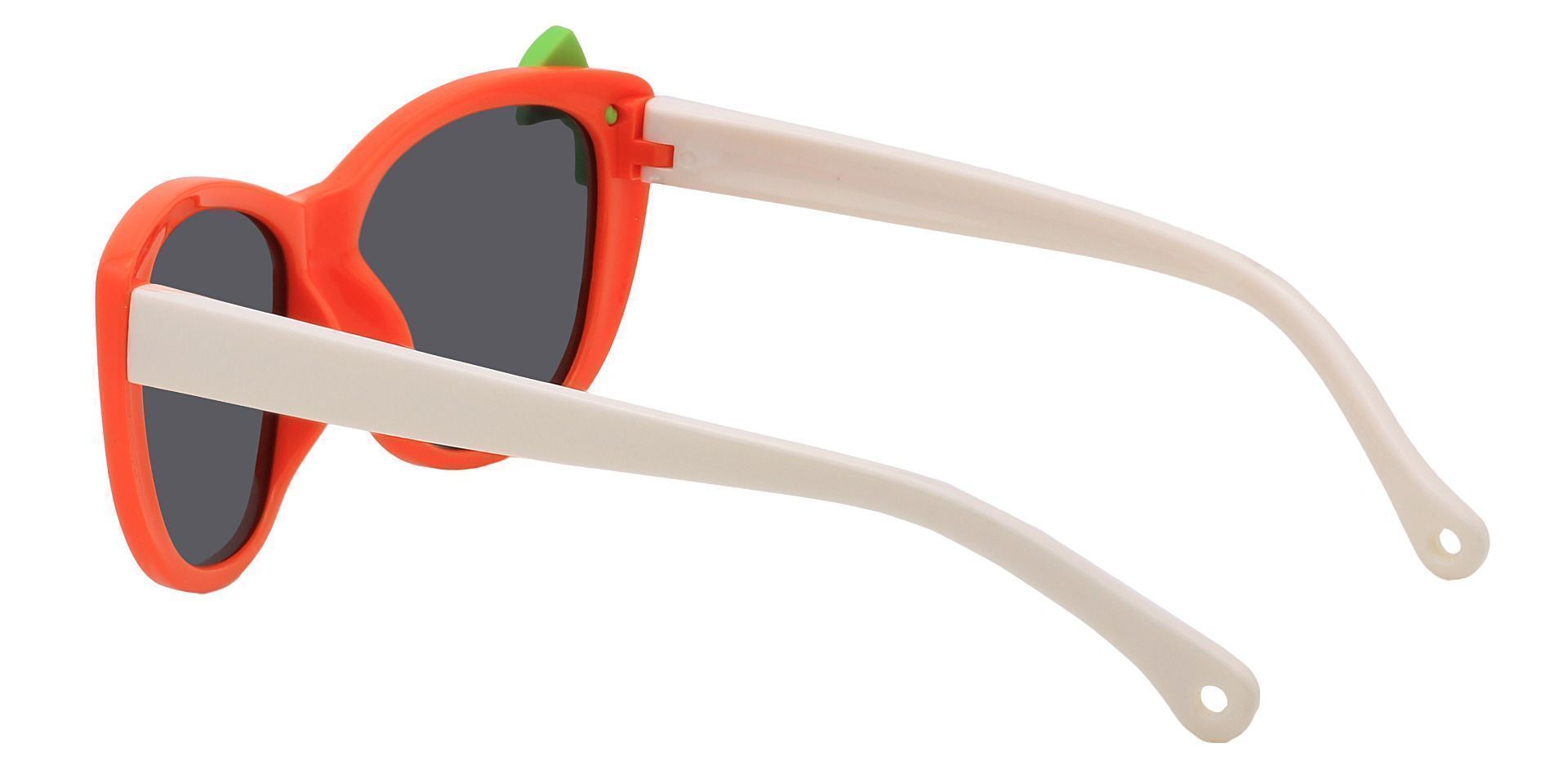 Mandarin Square Single Vision Sunglasses - Orange Frame With Gray Lenses