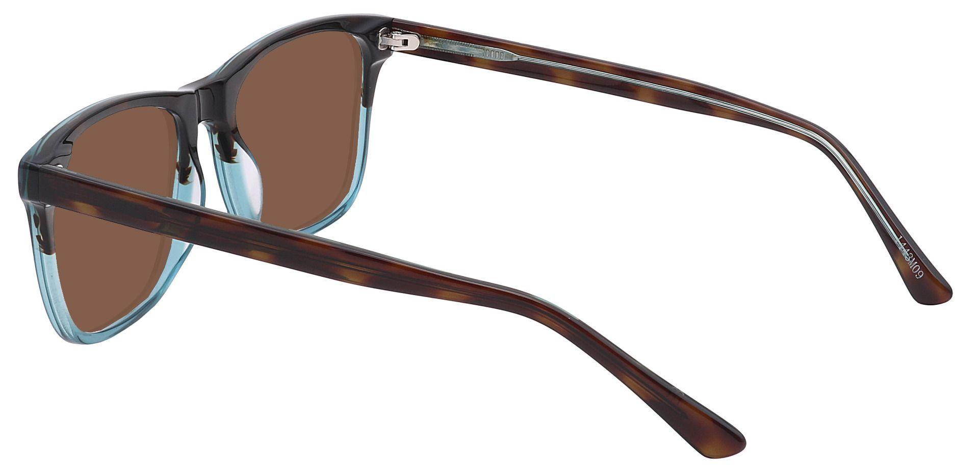 Cantina Square Prescription Sunglasses - Multi Color Frame With Brown Lenses