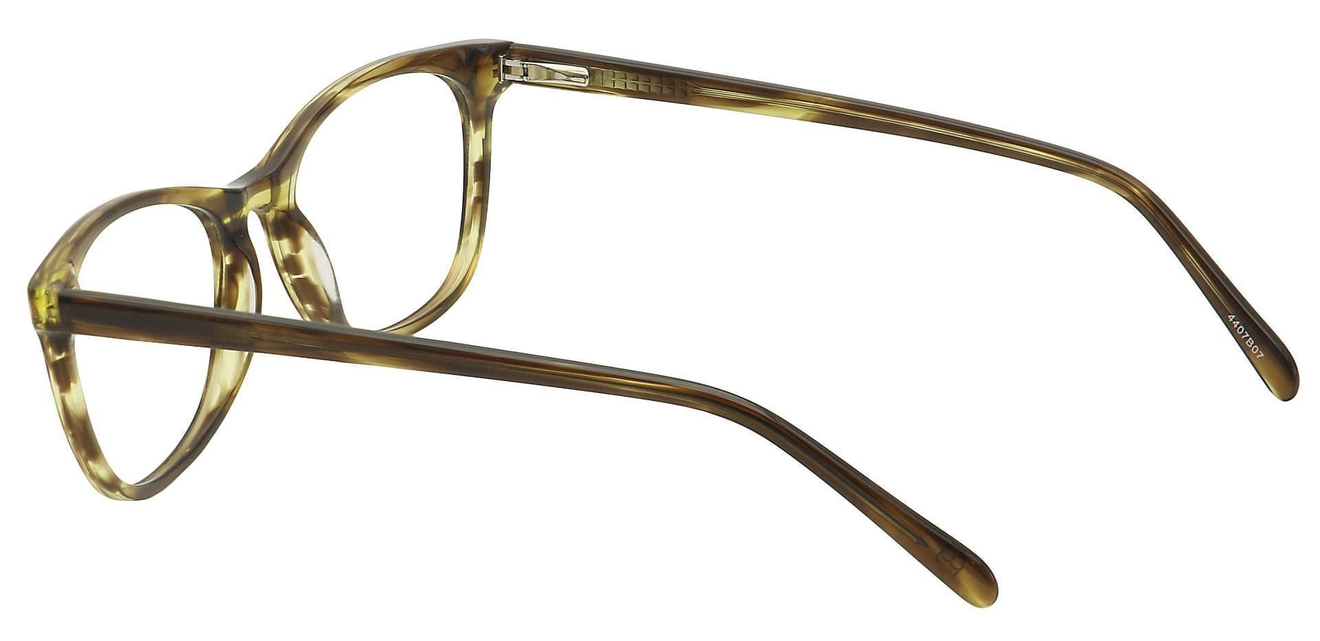 Kace Oval Prescription Glasses - Brown