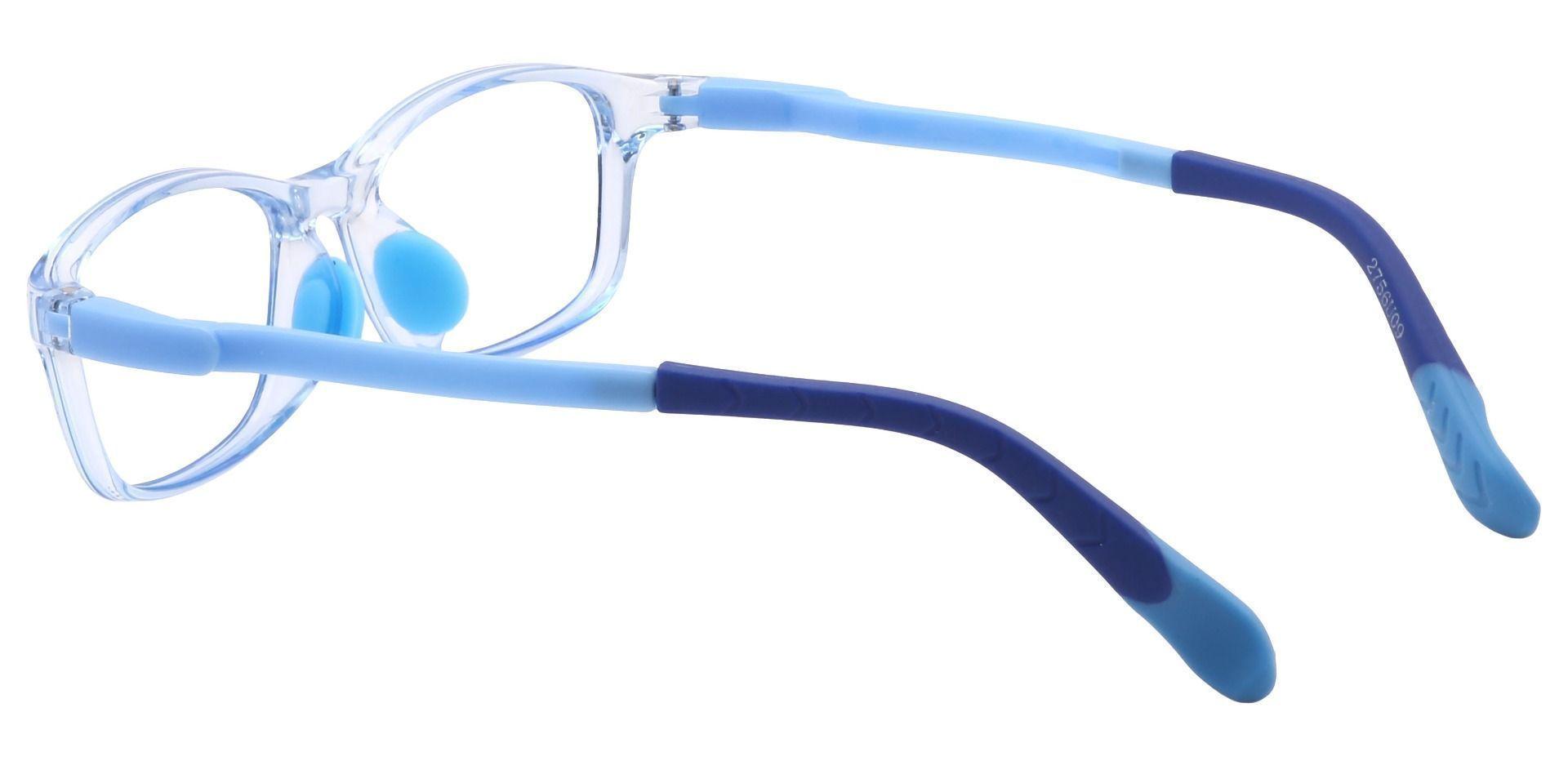 Taj Rectangle Prescription Glasses - Blue