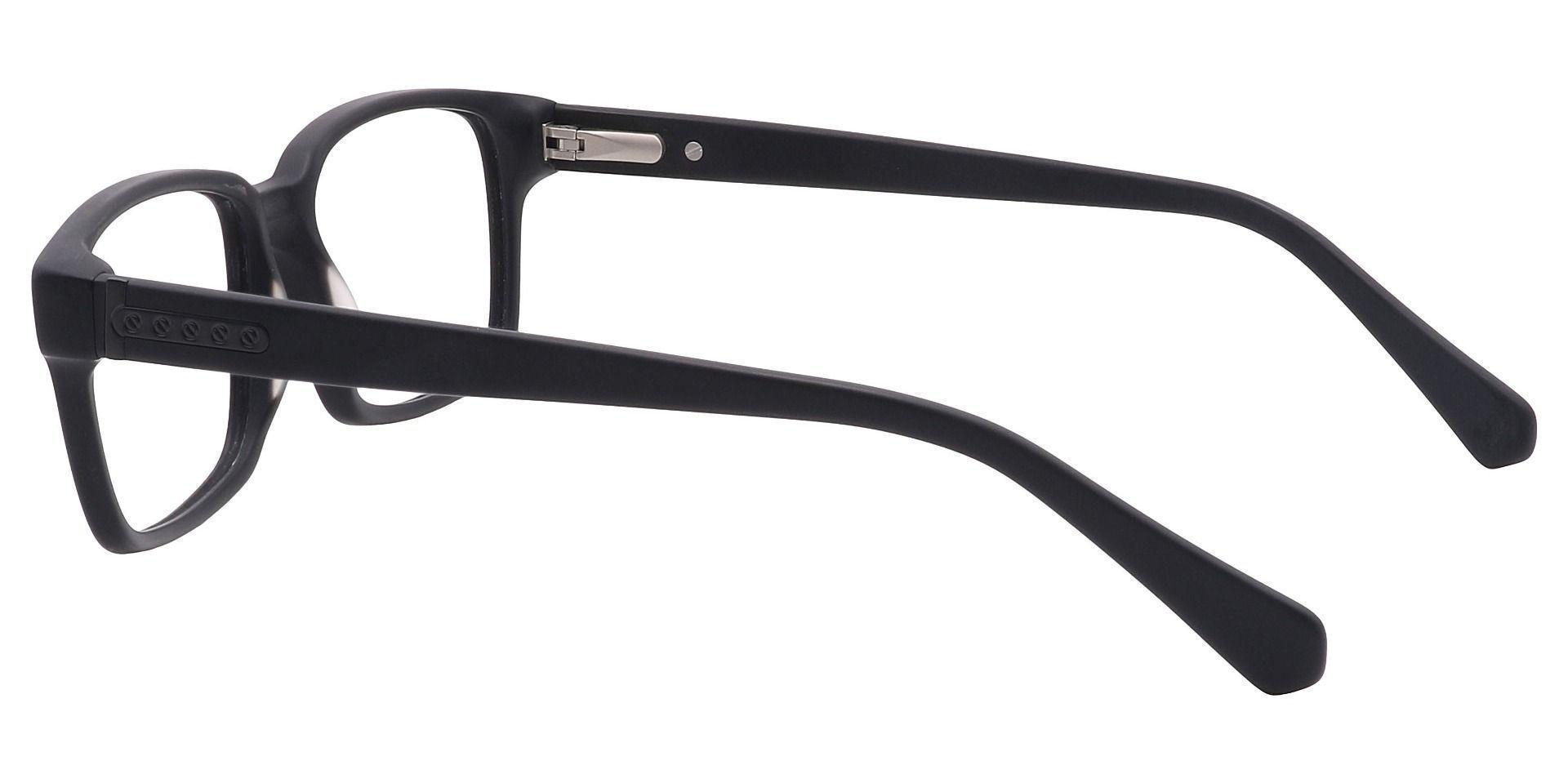 Clifford Rectangle Prescription Glasses - Black