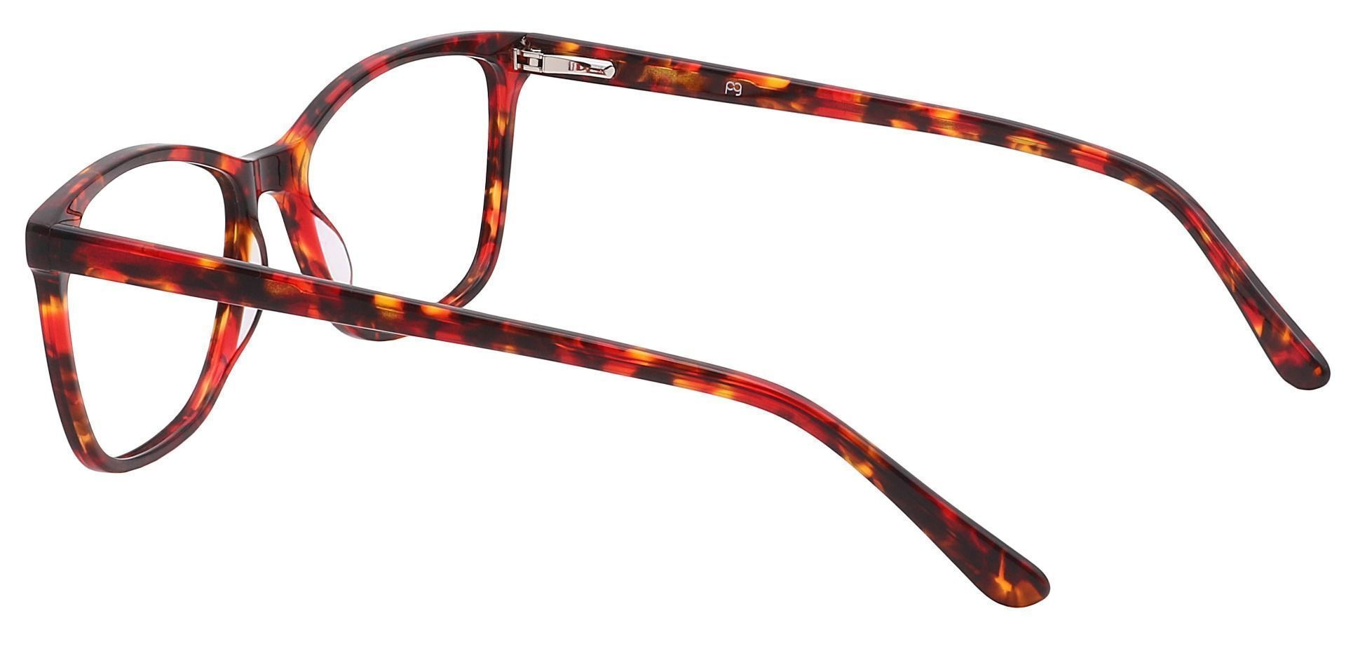 Antonia Square Lined Bifocal Glasses - Red