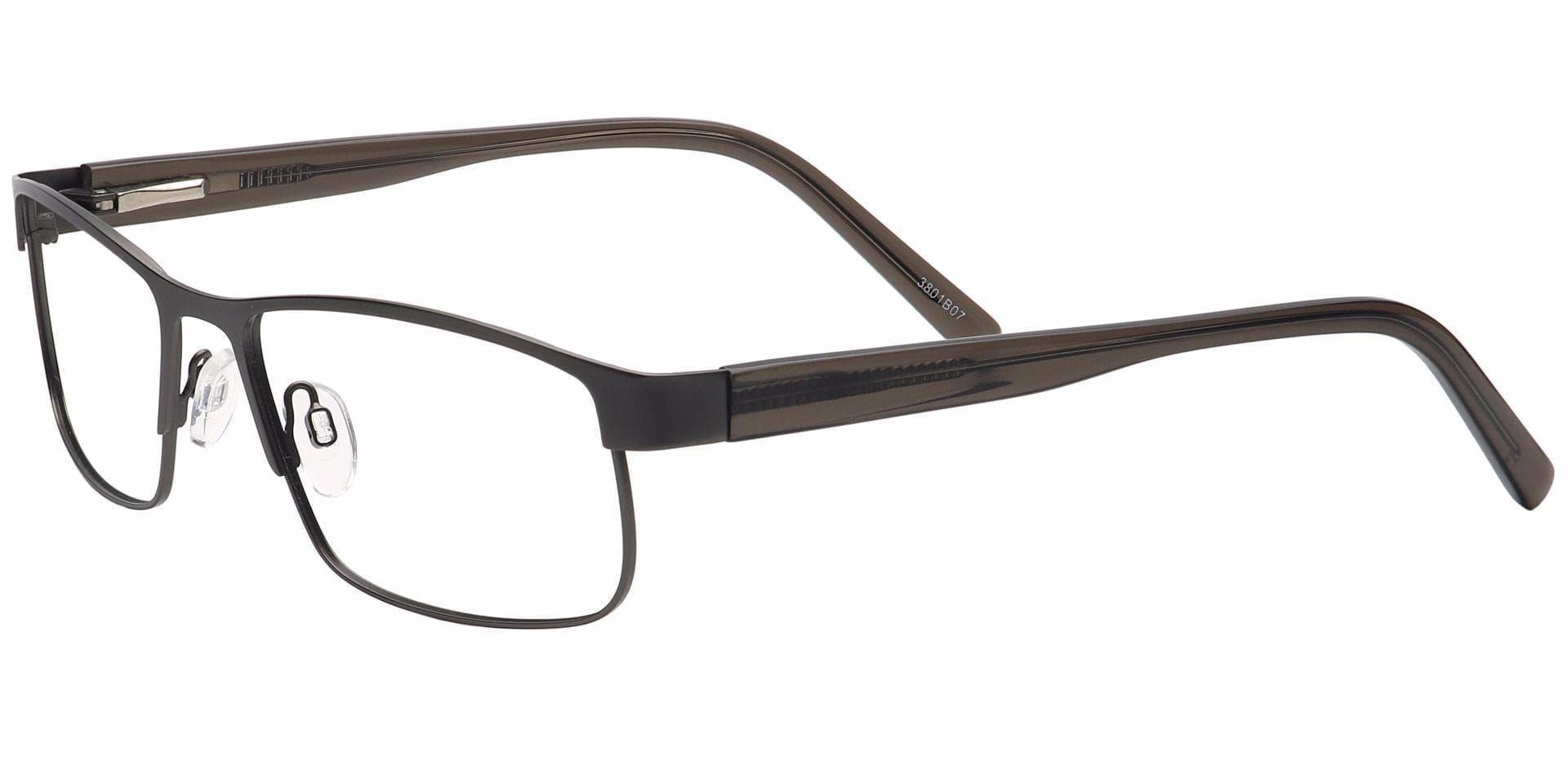 Taun Rectangle Blue Light Blocking Glasses - Brown