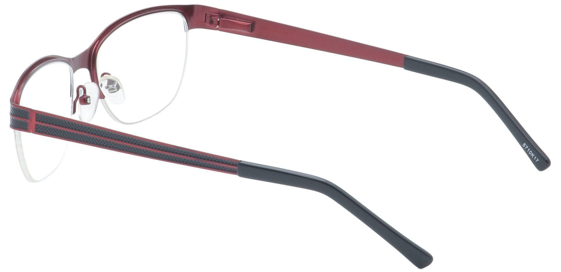 Arren Round Blue Light Blocking Glasses - Red