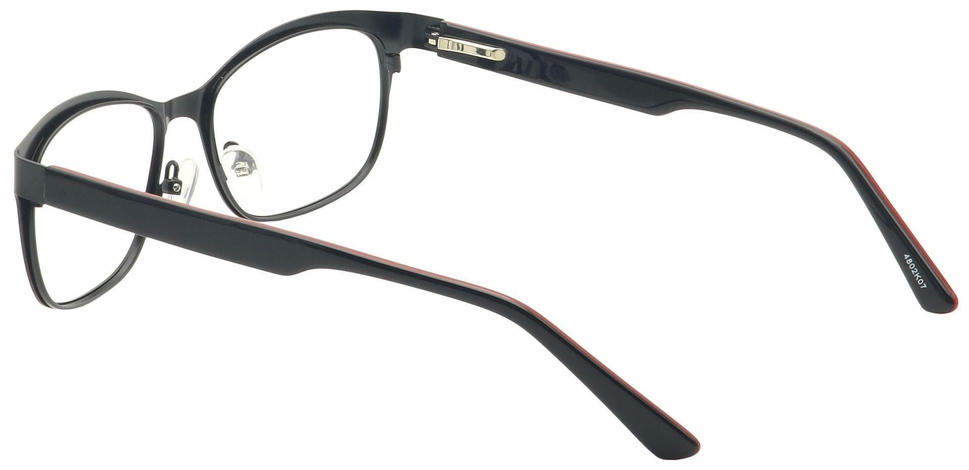 Lass Oval Prescription Glasses - Black
