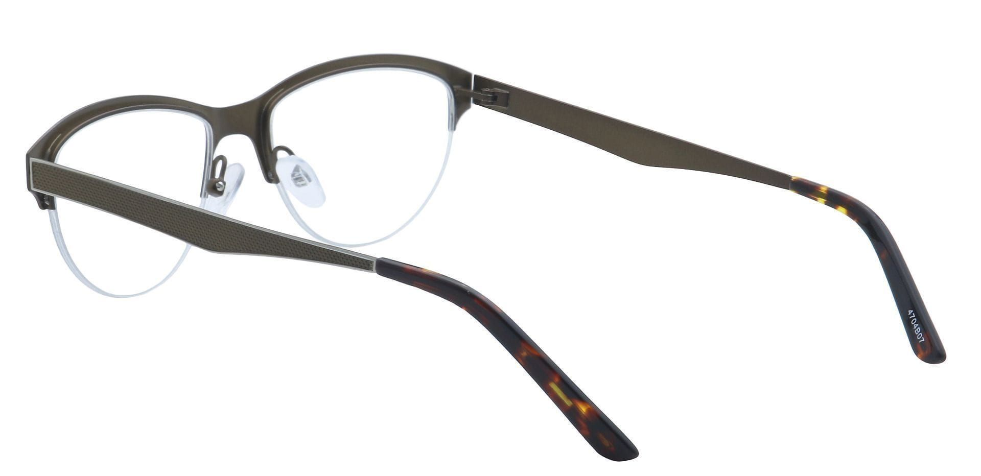 Joan Cat-Eye Lined Bifocal Glasses - Brown