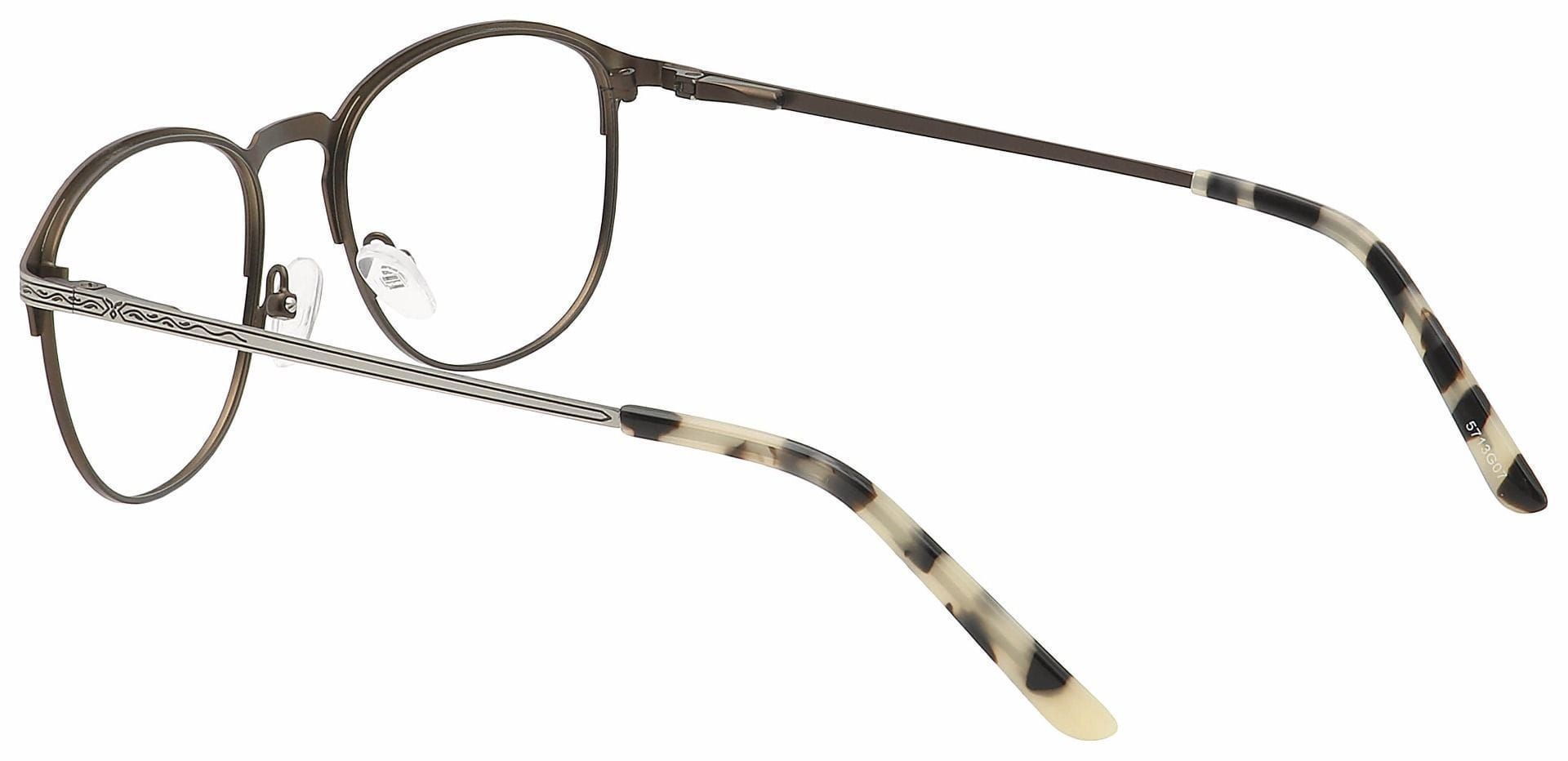 Mari Round Lined Bifocal Glasses - Brown
