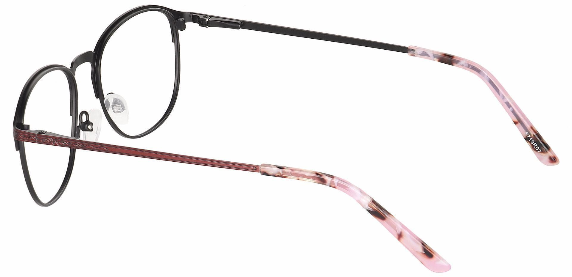 Mari Round Progressive Glasses - Red