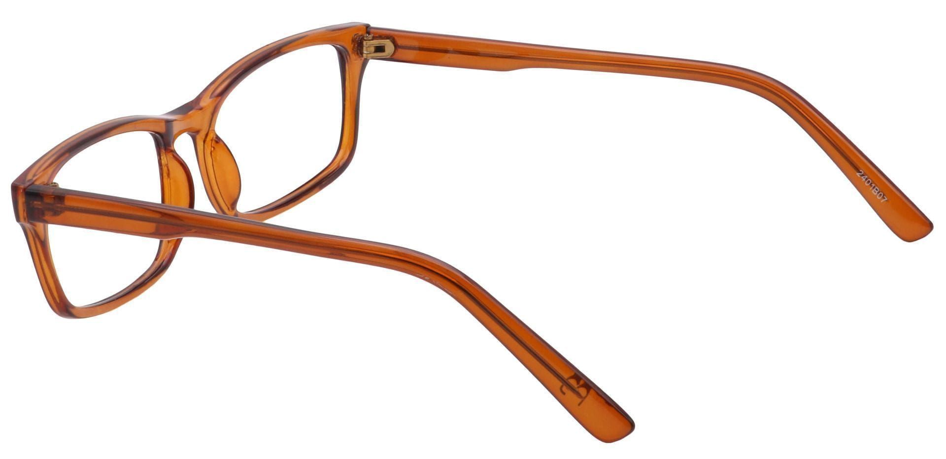 Holmes Rectangle Blue Light Blocking Glasses - Brown