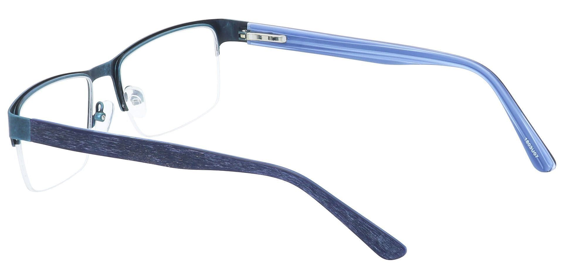 Midnight Square Progressive Glasses - Blue