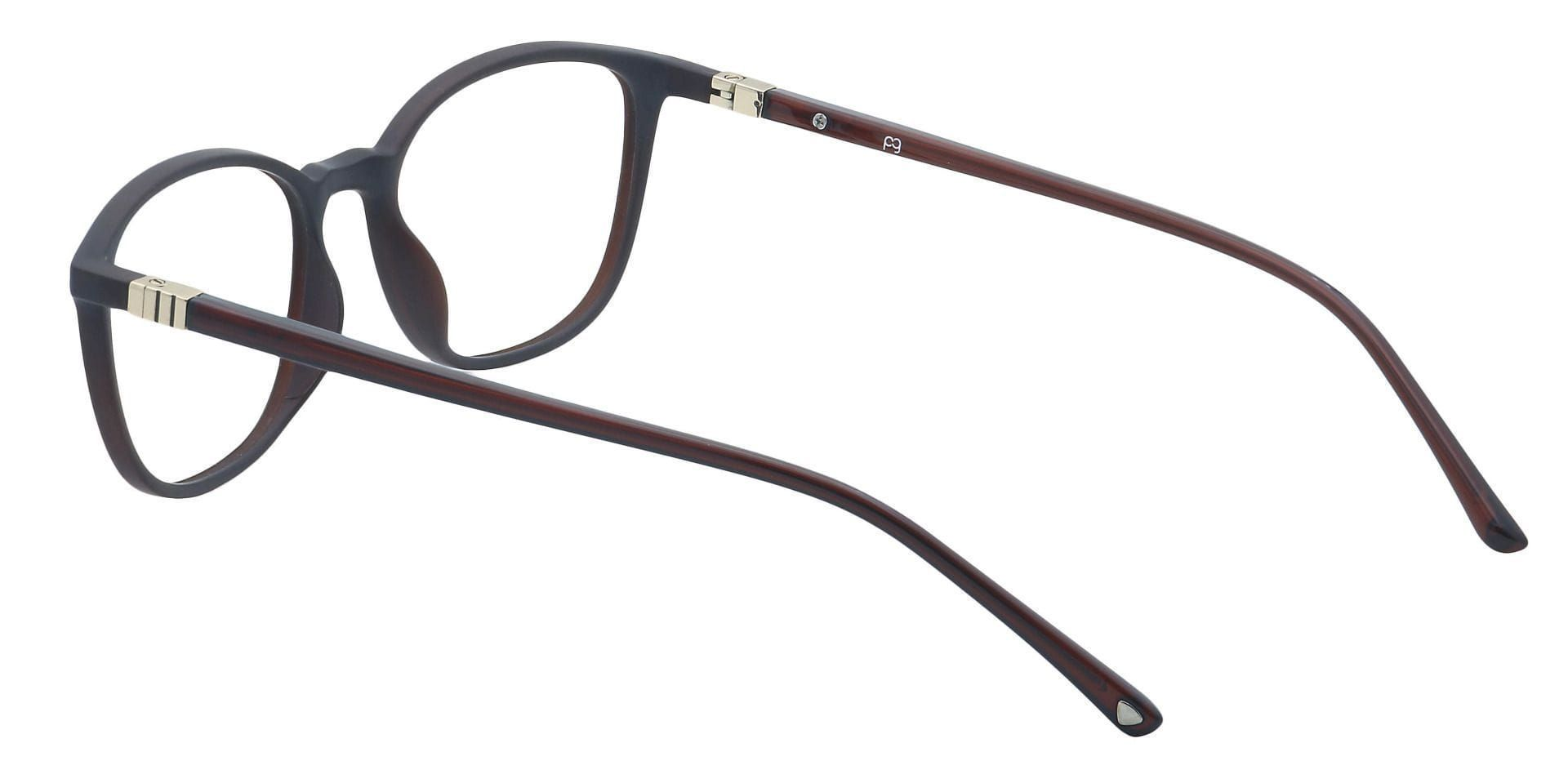 Karleen Oval Blue Light Blocking Glasses - Brown
