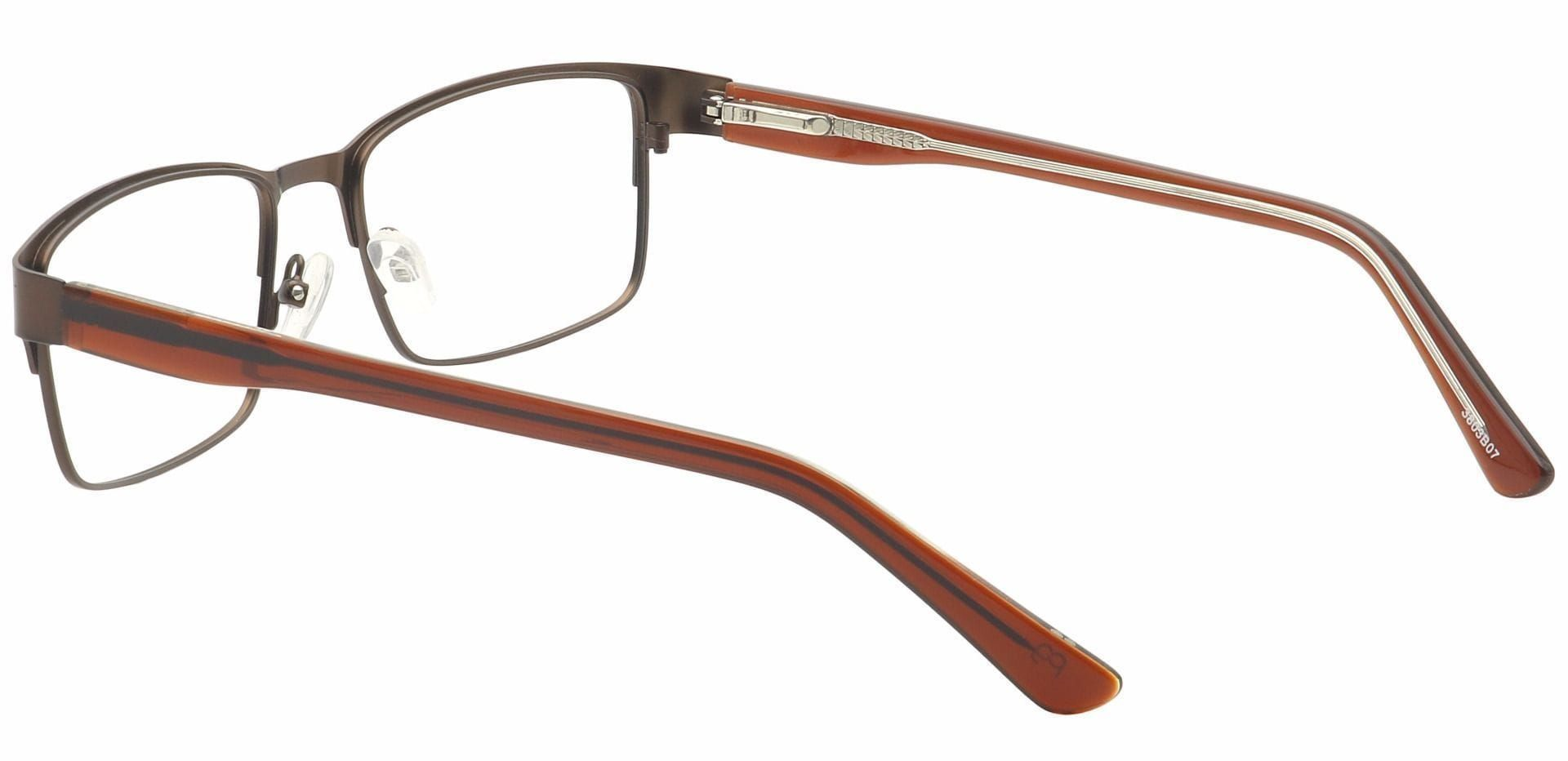 Lorn Rectangle Prescription Glasses - Brown