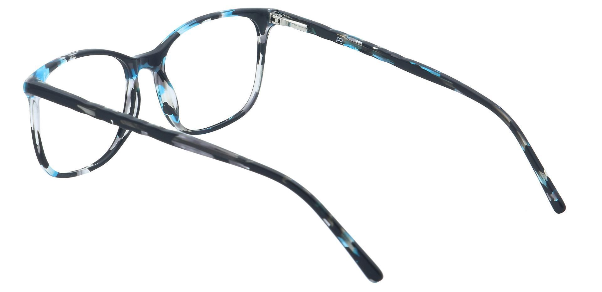 Mason Square Non-Rx Glasses - Blue