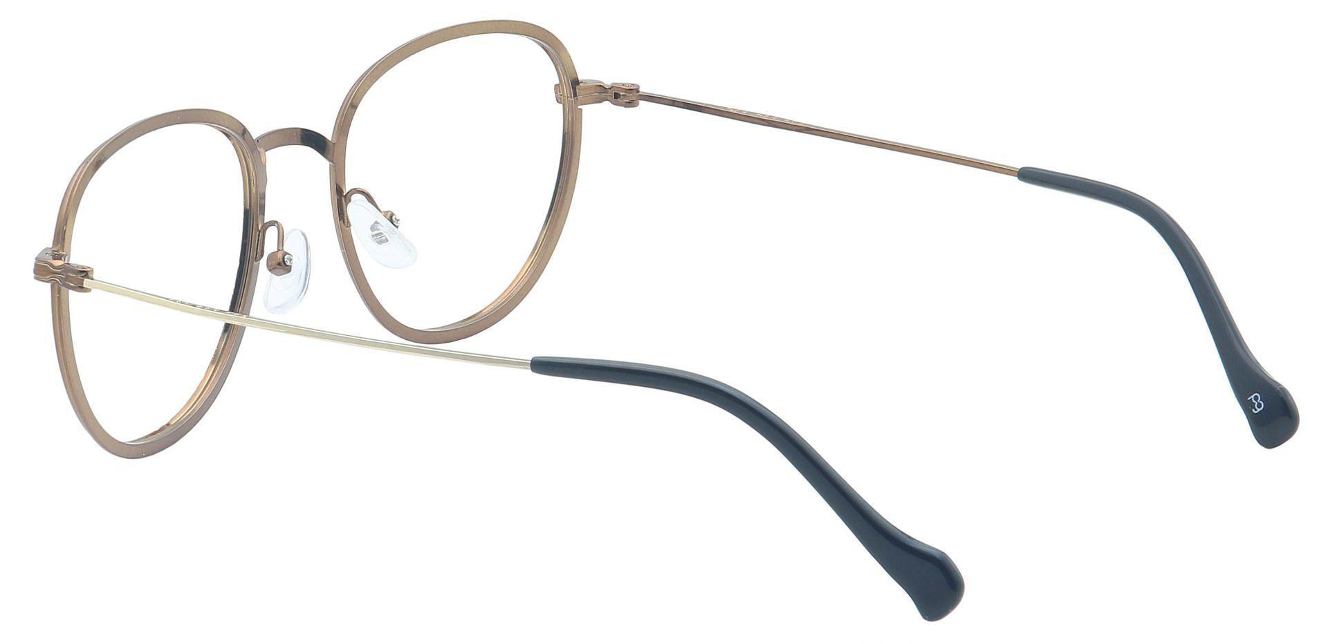 Foster Oval Prescription Glasses - Brown