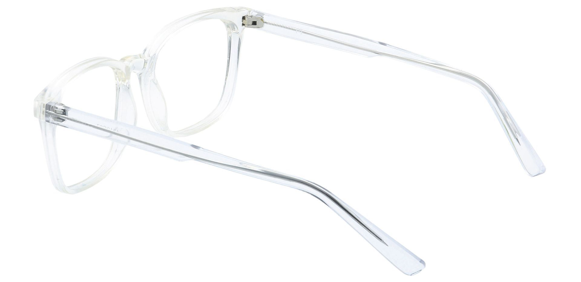 Windsor Rectangle Blue Light Blocking Glasses - Crystal