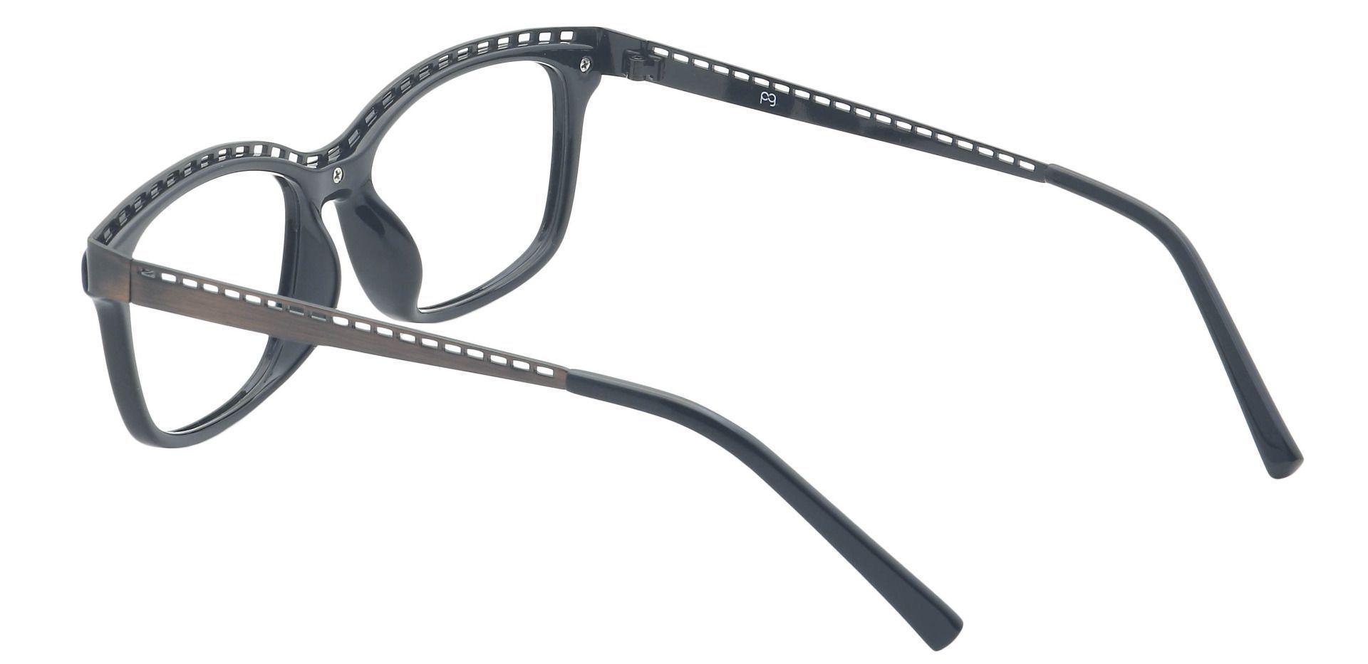 Richie Rectangle Eyeglasses Frame - Black