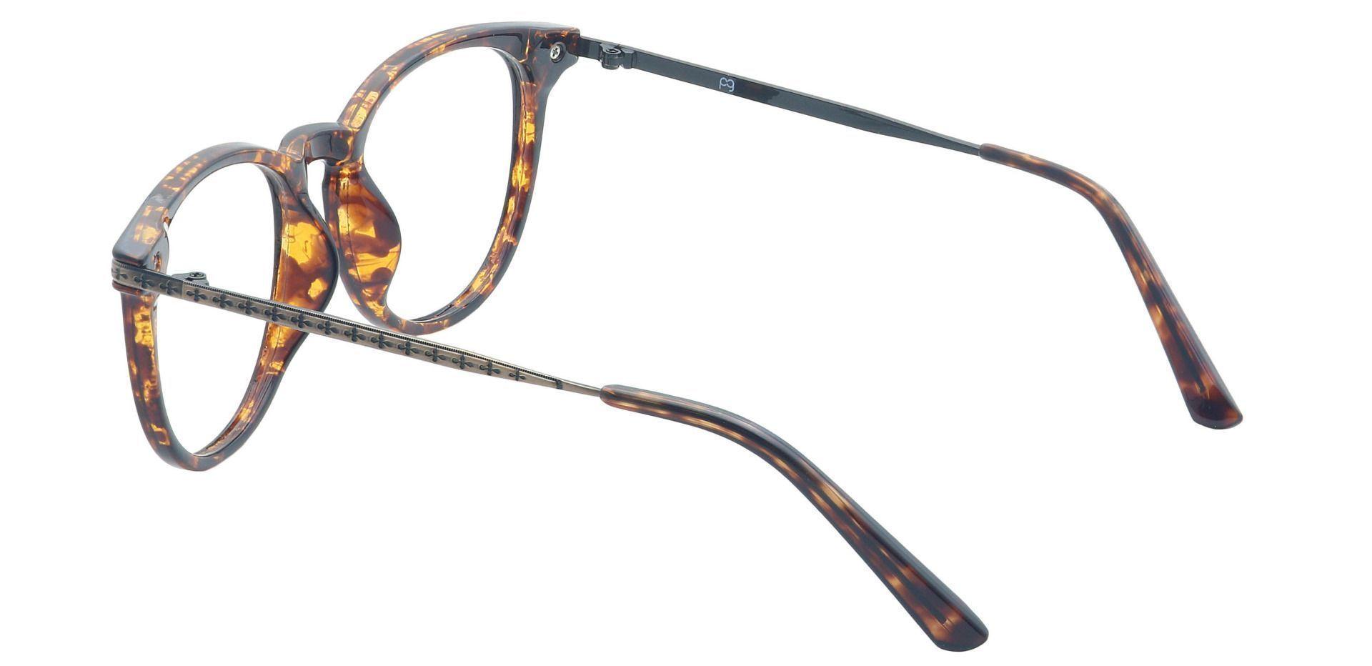 Honey Oval Prescription Glasses - Brown