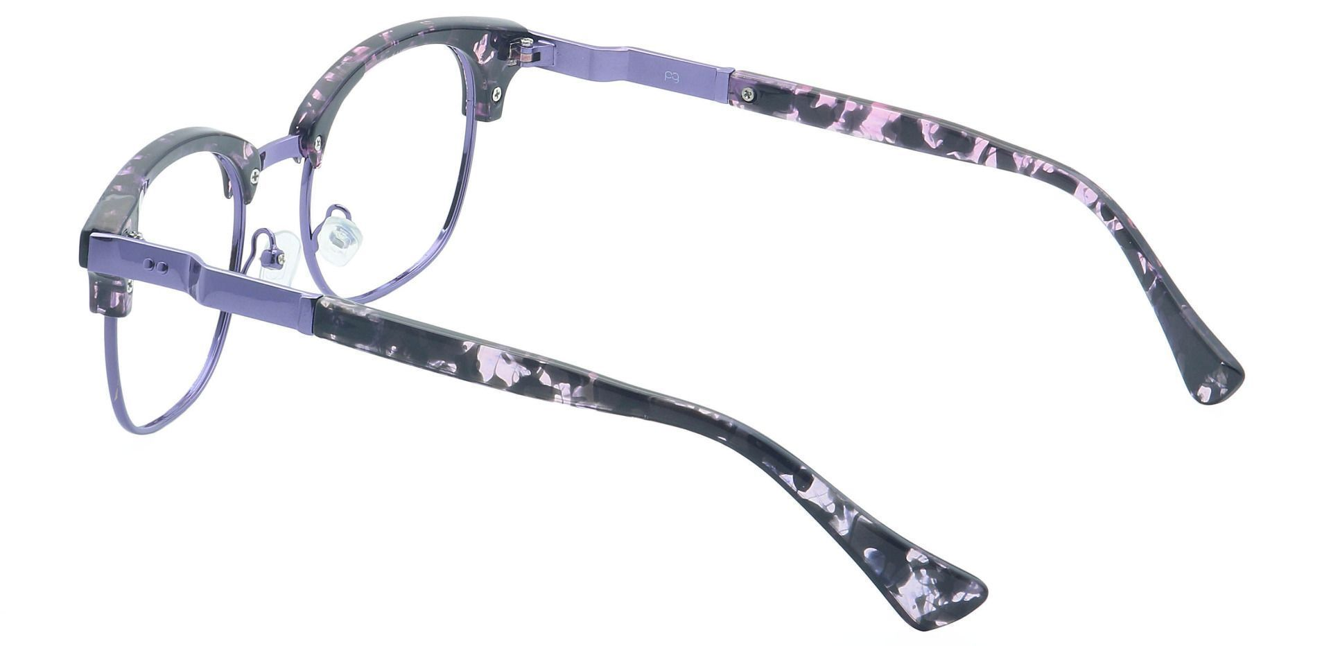Neptune Browline Lined Bifocal Glasses - Purple