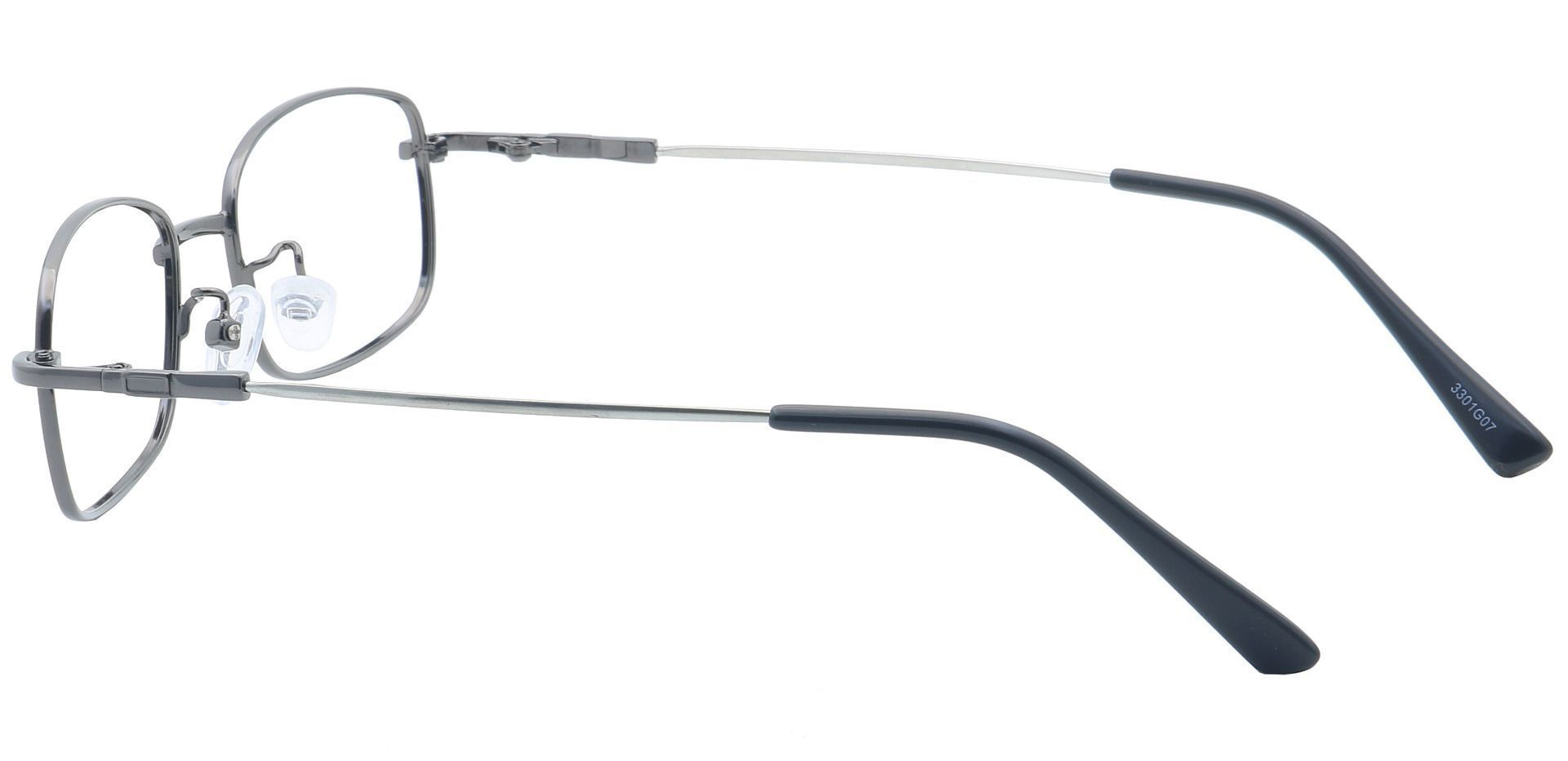 Ross Rectangle Prescription Glasses -  Gunmetal