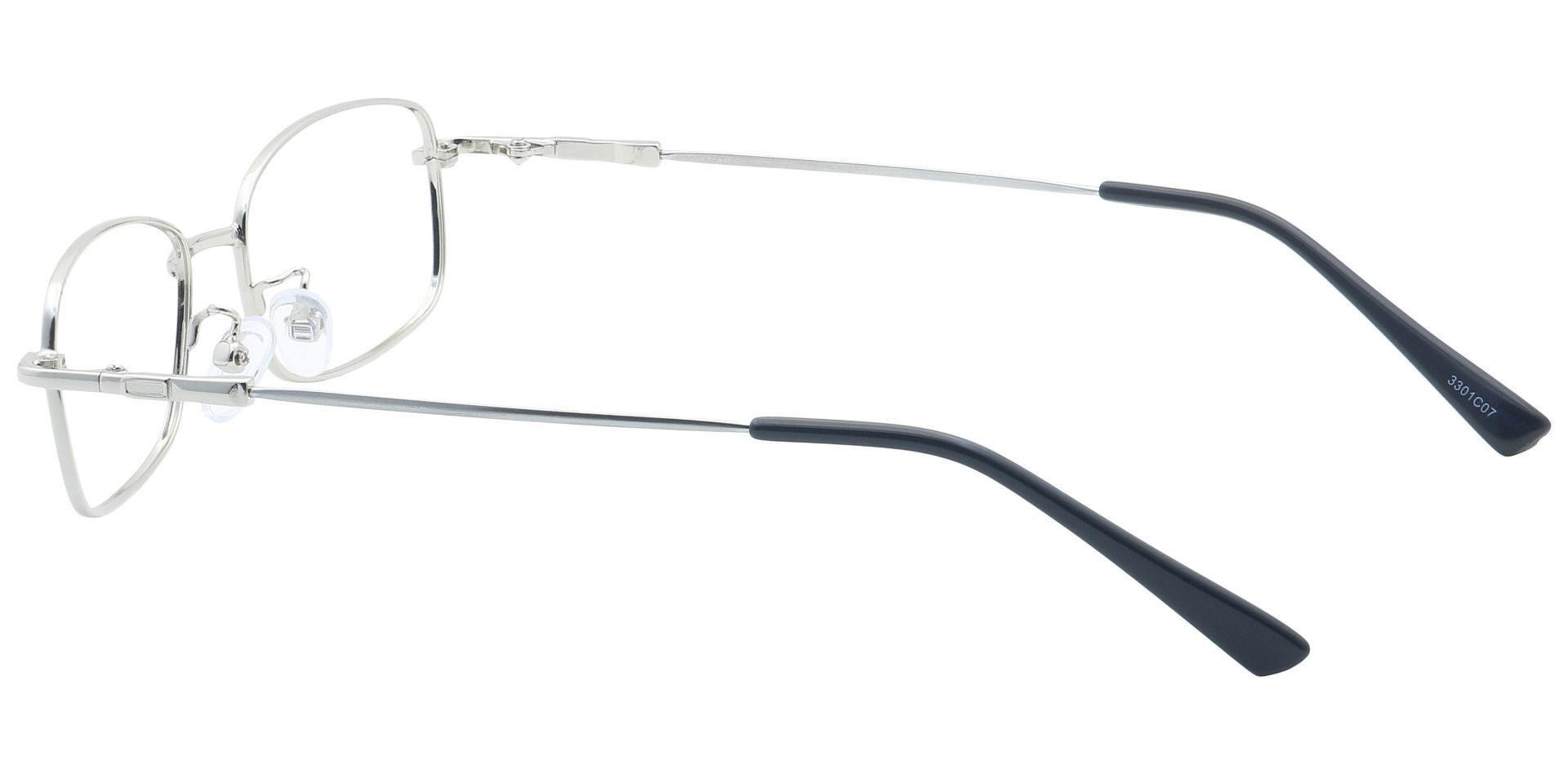 Ross Rectangle Reading Glasses - Silver