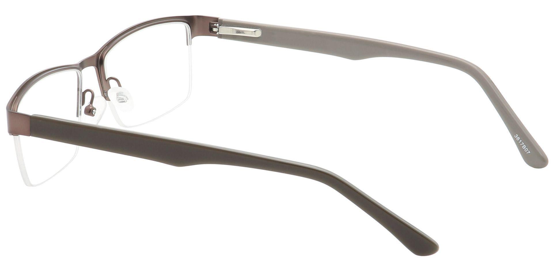 Kerwin Rectangle Progressive Glasses - Brown