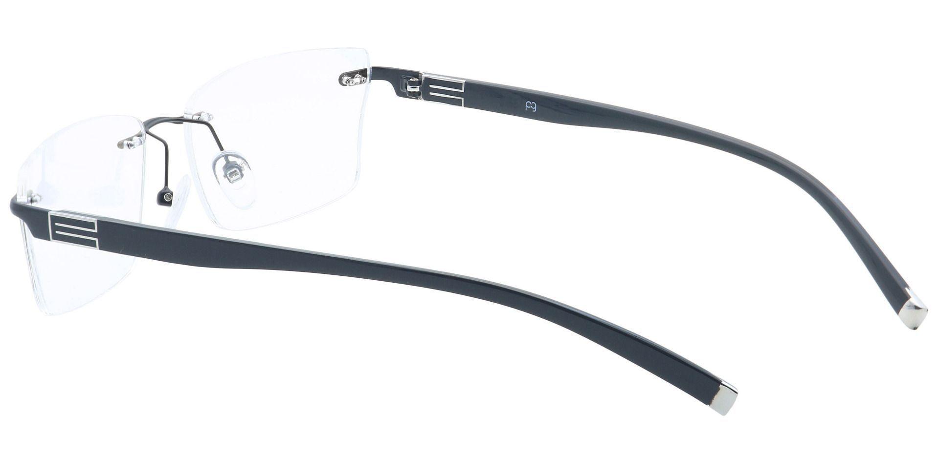 Cleo Rimless Blue Light Blocking Glasses - Black