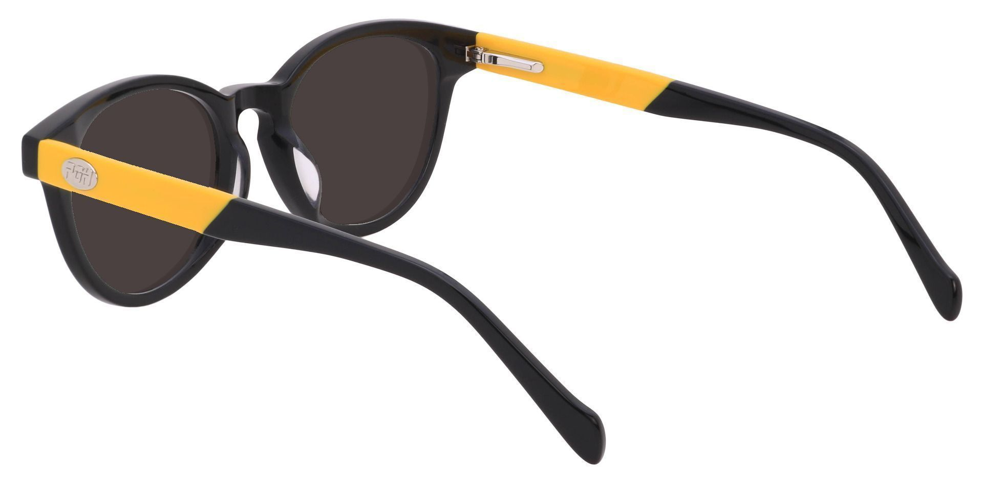 Oakland Oval Prescription Sunglasses - Black Frame With Gray Lenses