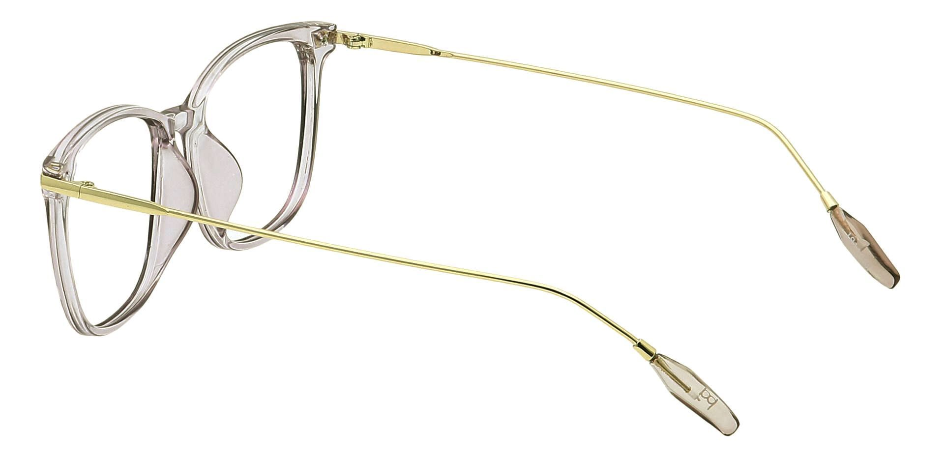 Katie Oval Eyeglasses Frame - The Frame Is Clear With Light Purple