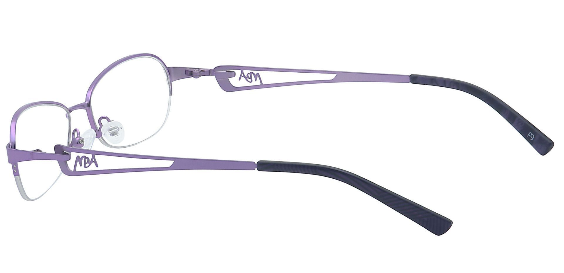 Marsha Oval Eyeglasses Frame - Purple
