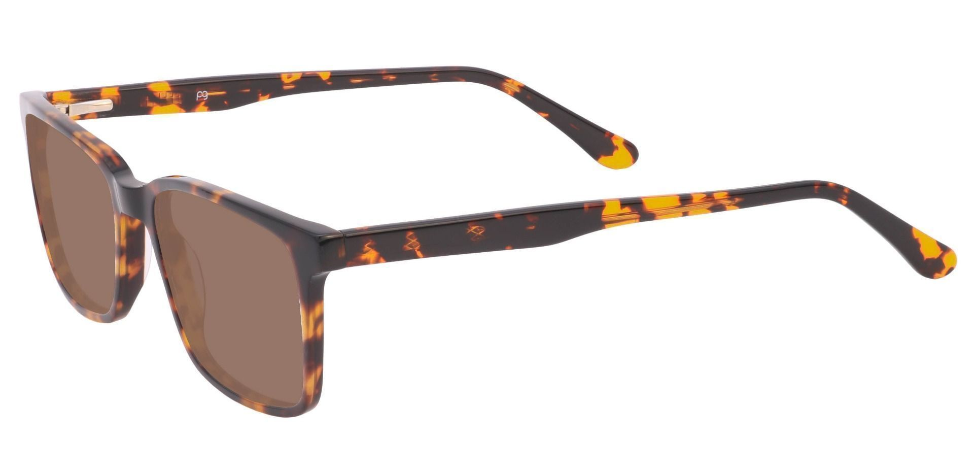 Venice Rectangle Non-Rx Sunglasses - Tortoise Frame With Brown Lenses