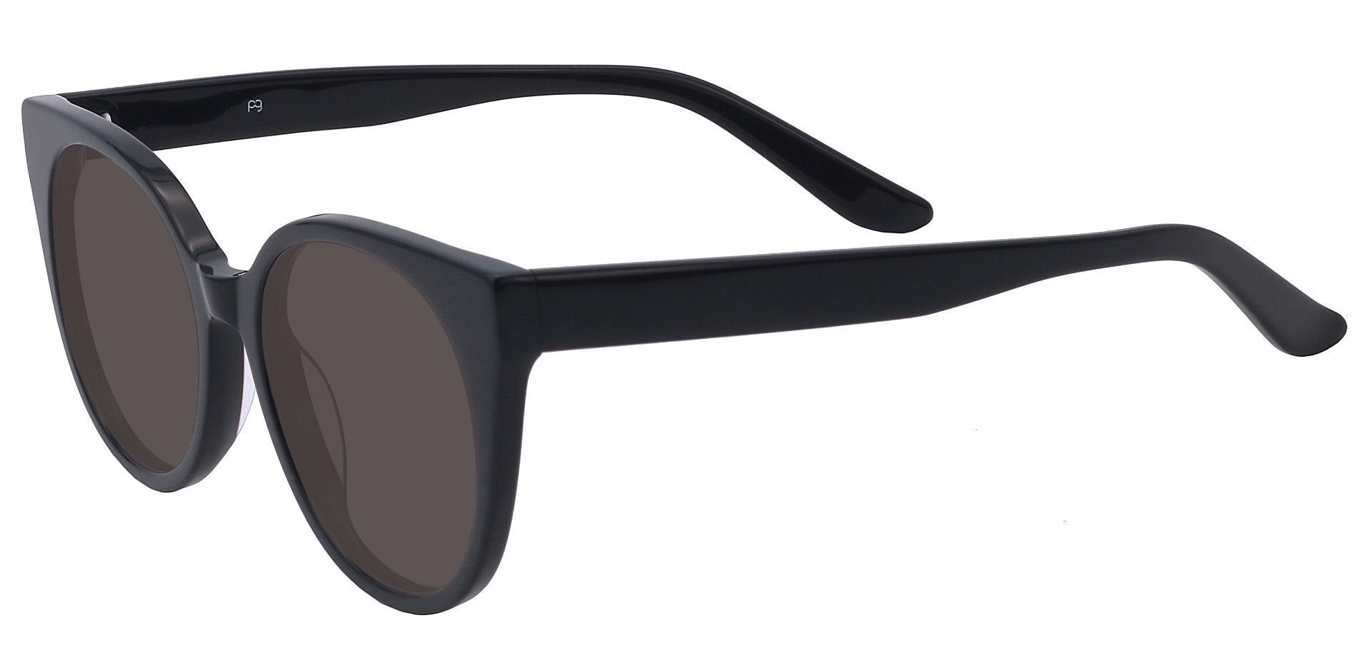 Balmoral Cat-Eye Reading Sunglasses - Black Frame With Gray Lenses