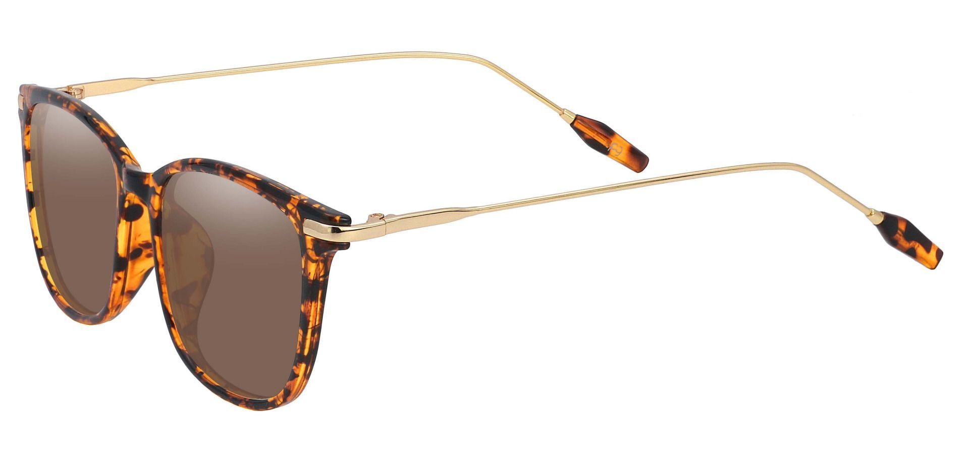 Katie Oval Prescription Sunglasses - Tortoise Frame With Brown Lenses