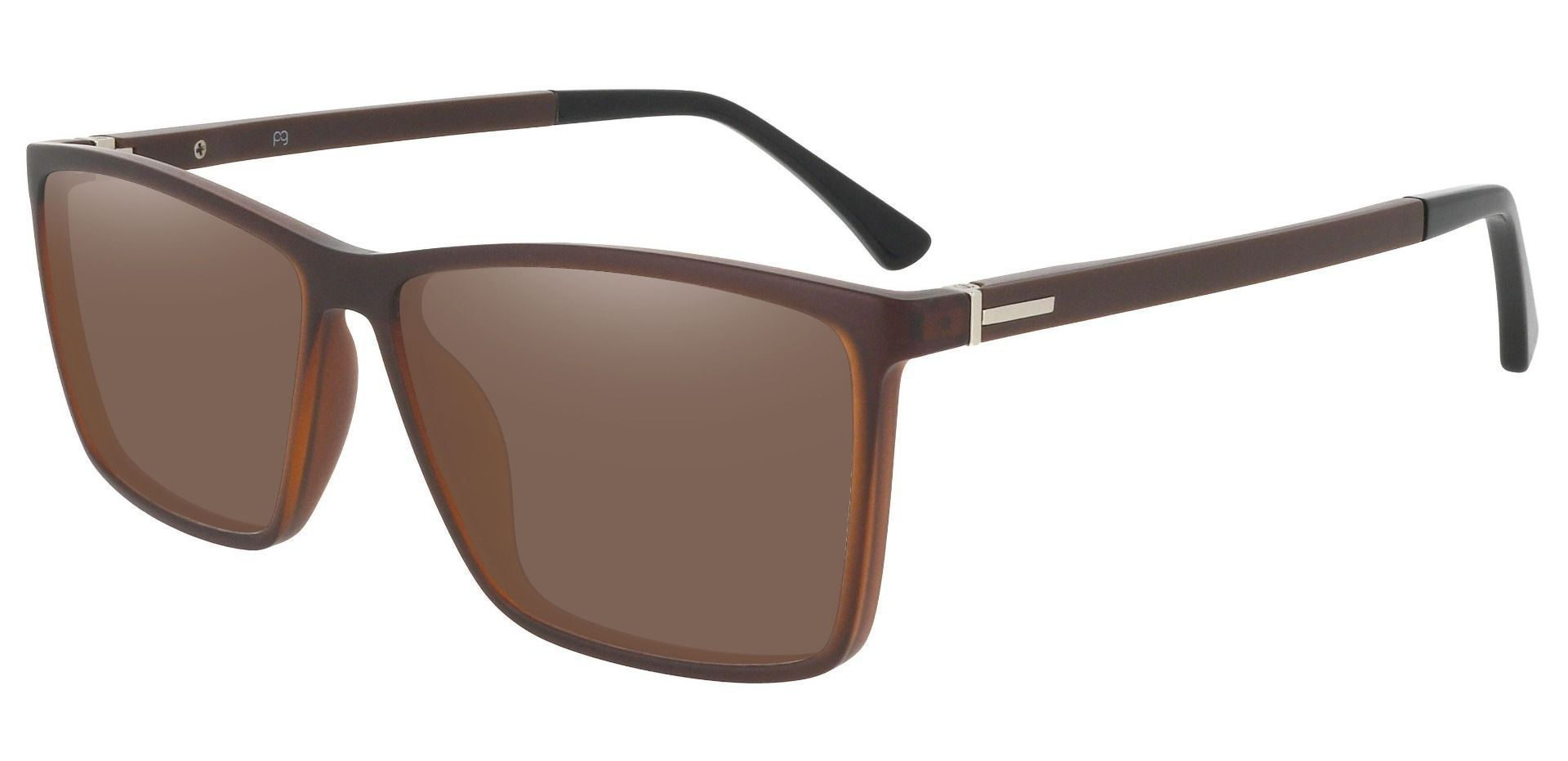Louie Square Prescription Sunglasses - Brown Frame With Brown Lenses