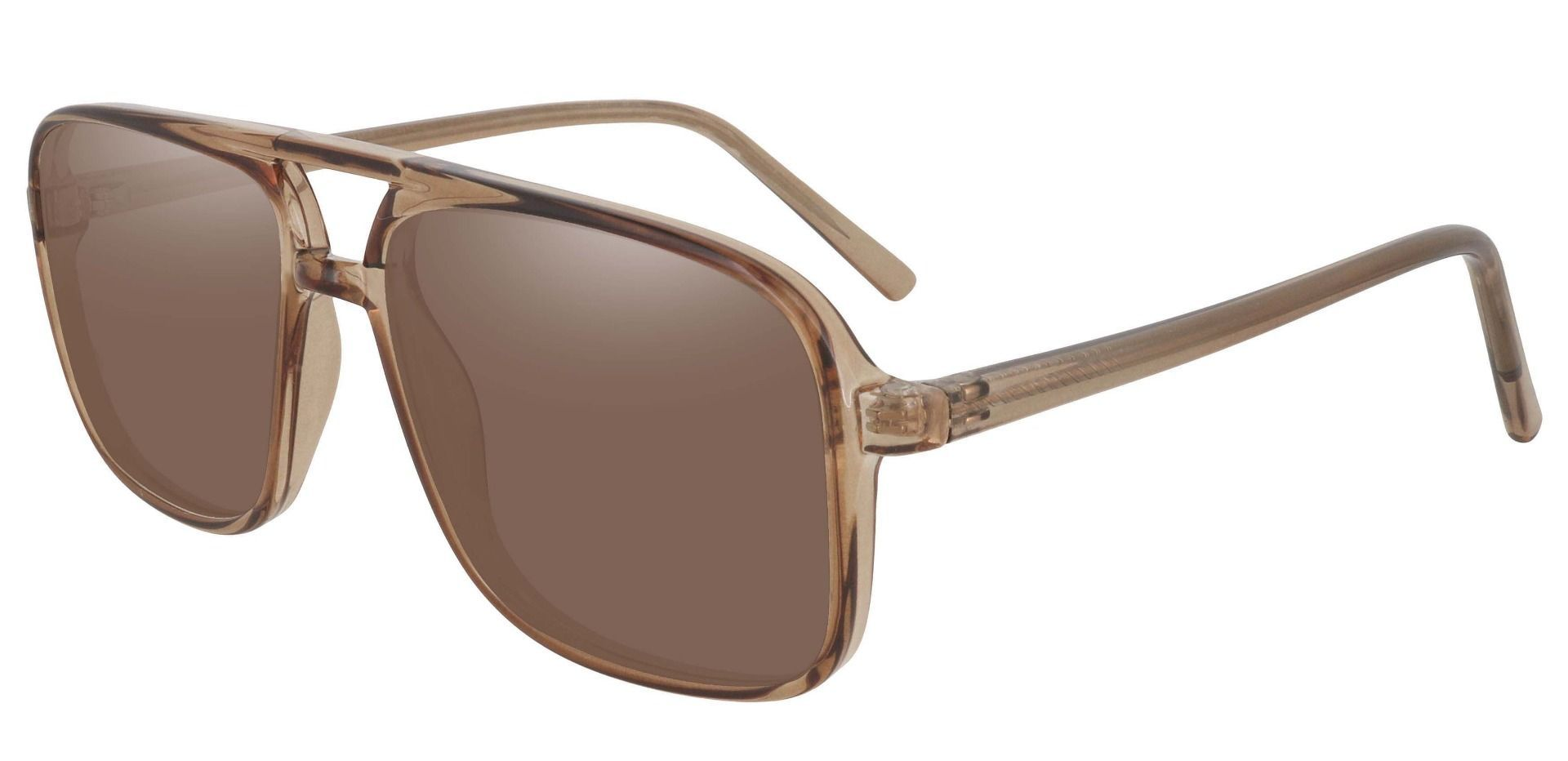 Atwood Aviator Prescription Sunglasses - Brown Frame With Brown Lenses