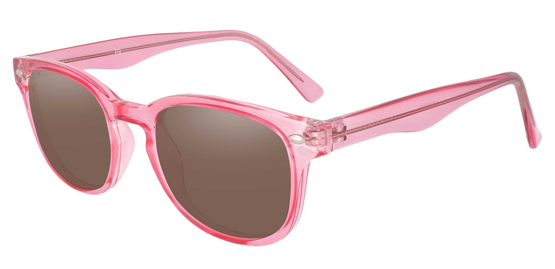 Swirl Classic Square Prescription Sunglasses - Pink Frame With Brown Lenses