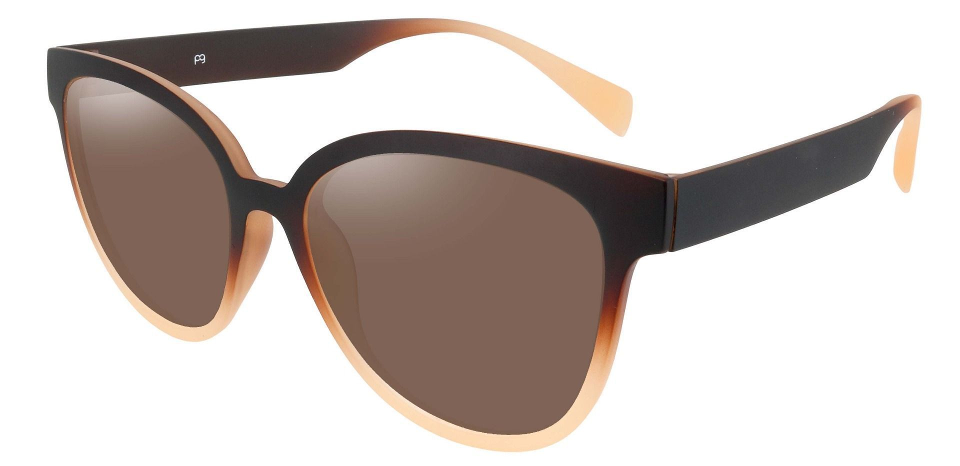 Newport Oval Non-Rx Sunglasses - Brown Frame With Brown Lenses