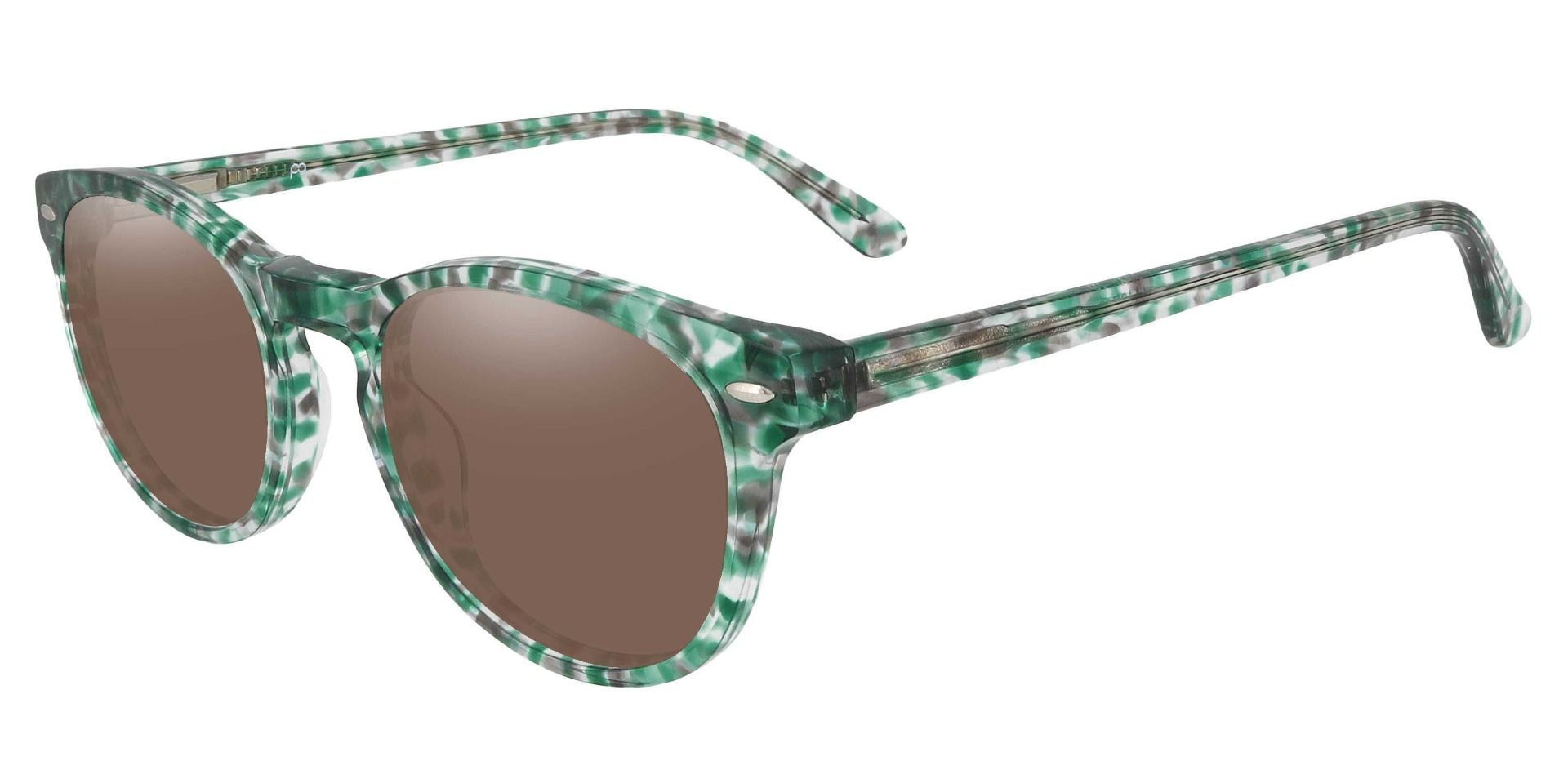 Laguna Oval Lined Bifocal Sunglasses - Green Frame With Brown Lenses