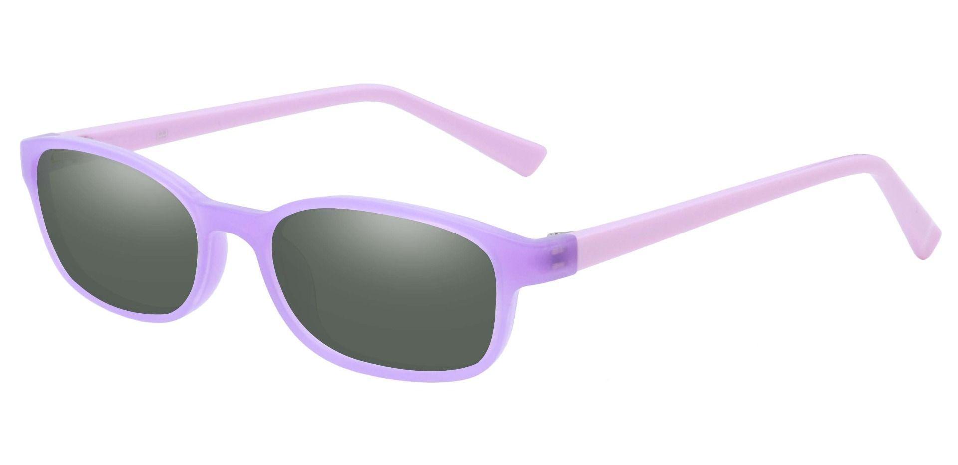 Kia Oval Single Vision Sunglasses -  Purple Frame With Green Lenses
