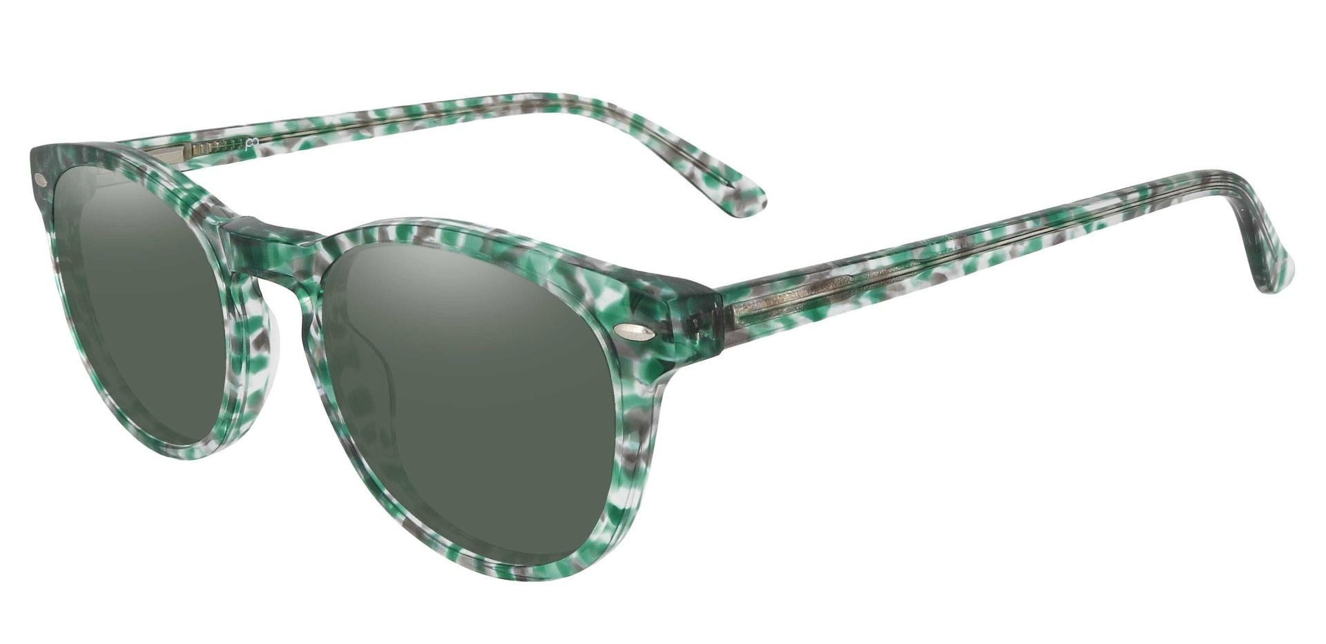 Laguna Oval Lined Bifocal Sunglasses - Green Frame With Green Lenses