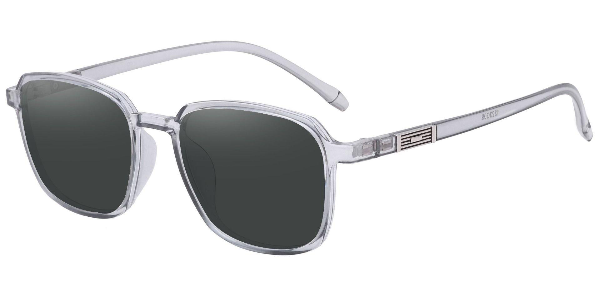 Stella Square Prescription Sunglasses - Gray Frame With Gray Lenses