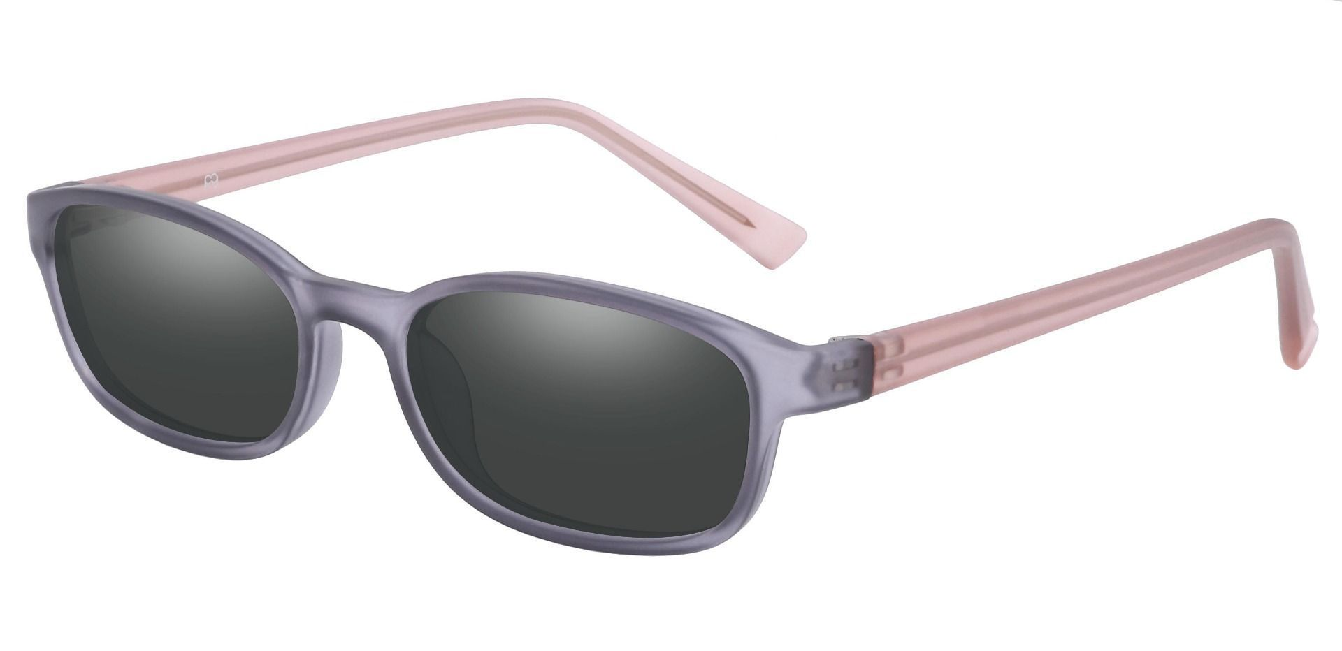 Kia Oval Single Vision Sunglasses -  Gray Frame With Gray Lenses