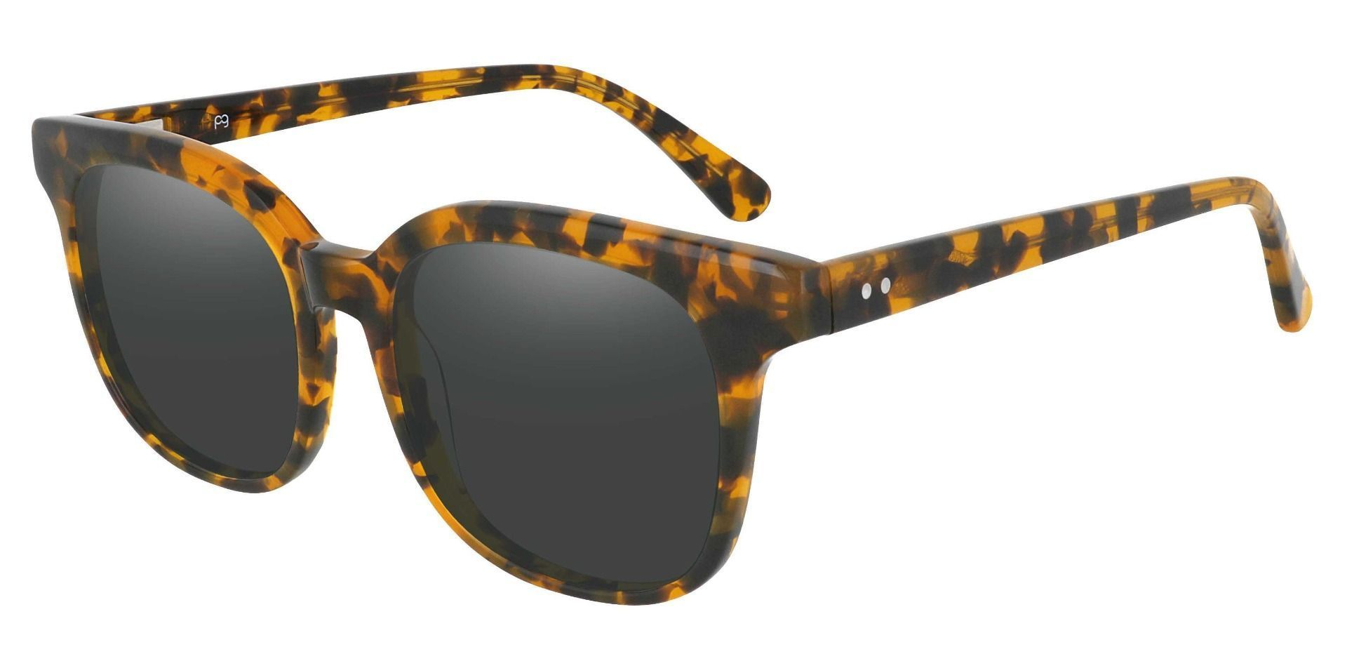 Tenor Square Prescription Sunglasses - Tortoise Frame With Gray Lenses