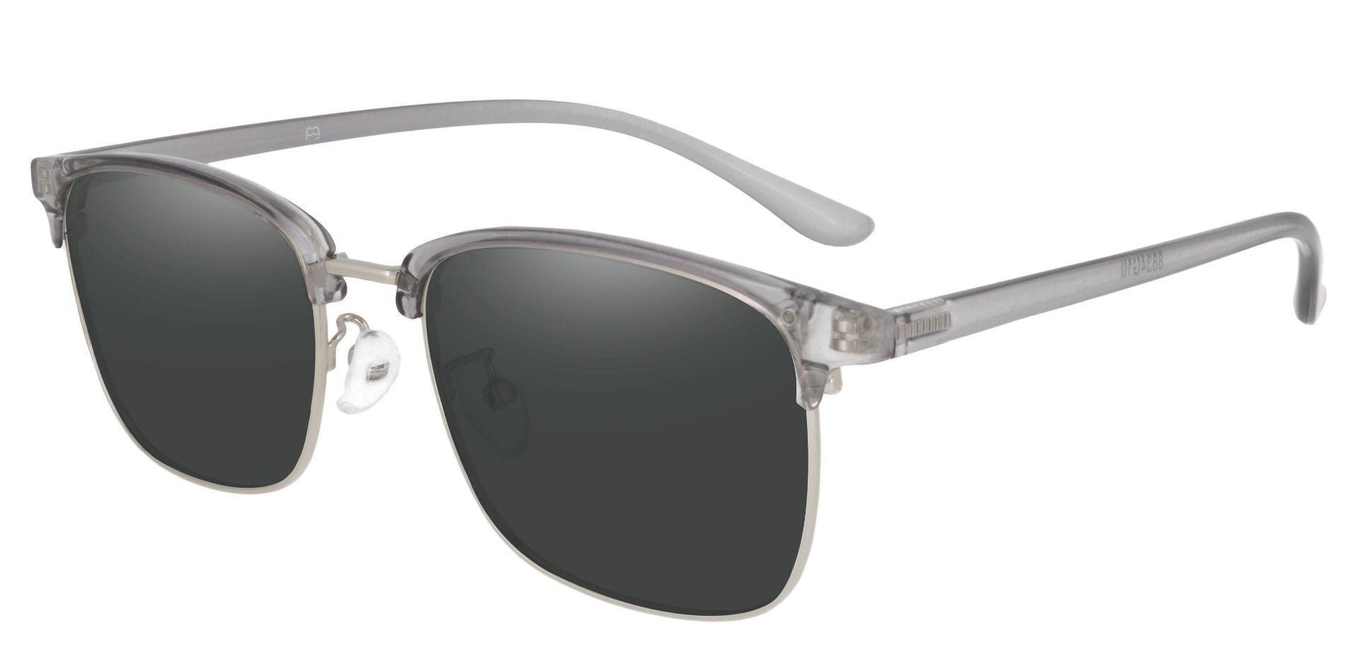 Simcoe Browline Prescription Sunglasses - Gray Frame With Gray Lenses