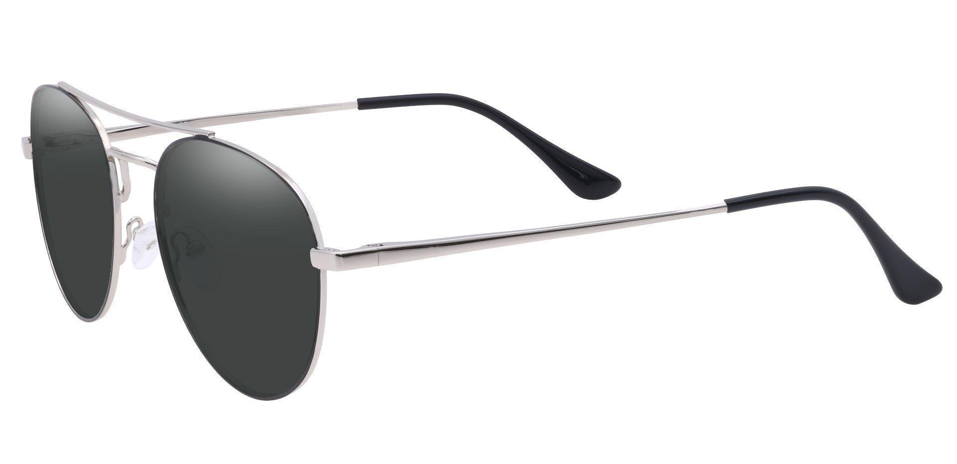 Trapp Aviator Progressive Sunglasses - Gray Frame With Gray Lenses