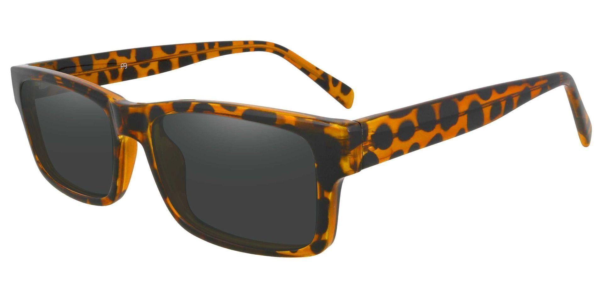 Eclipse Rectangle Prescription Sunglasses - Tortoise Frame With Gray Lenses